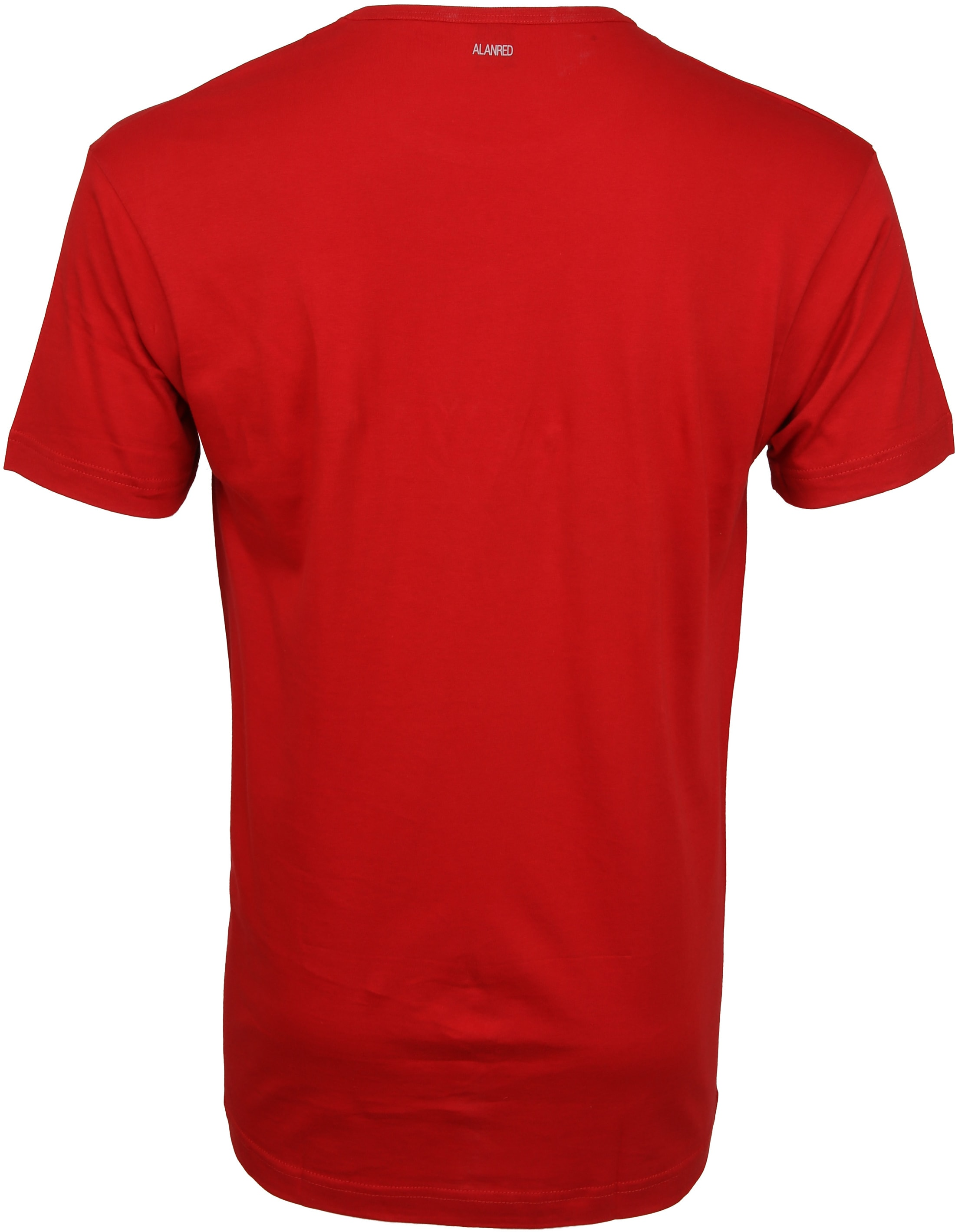 Alan Red Derby O-Hals T-Shirt Stone Red (2Pack) foto 3
