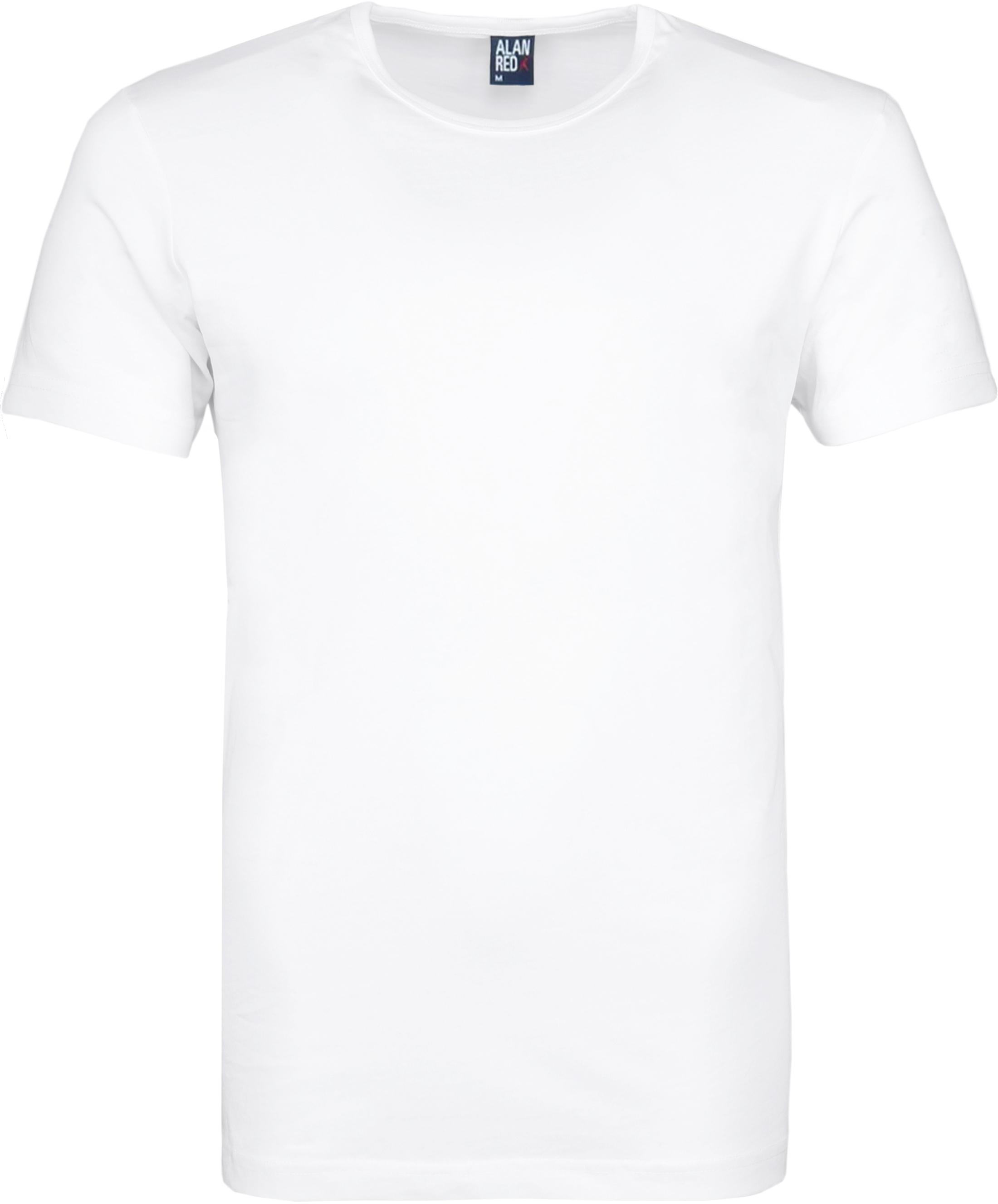 Alan Red Derby O-Hals T-Shirt Wit (2Pack) foto 1