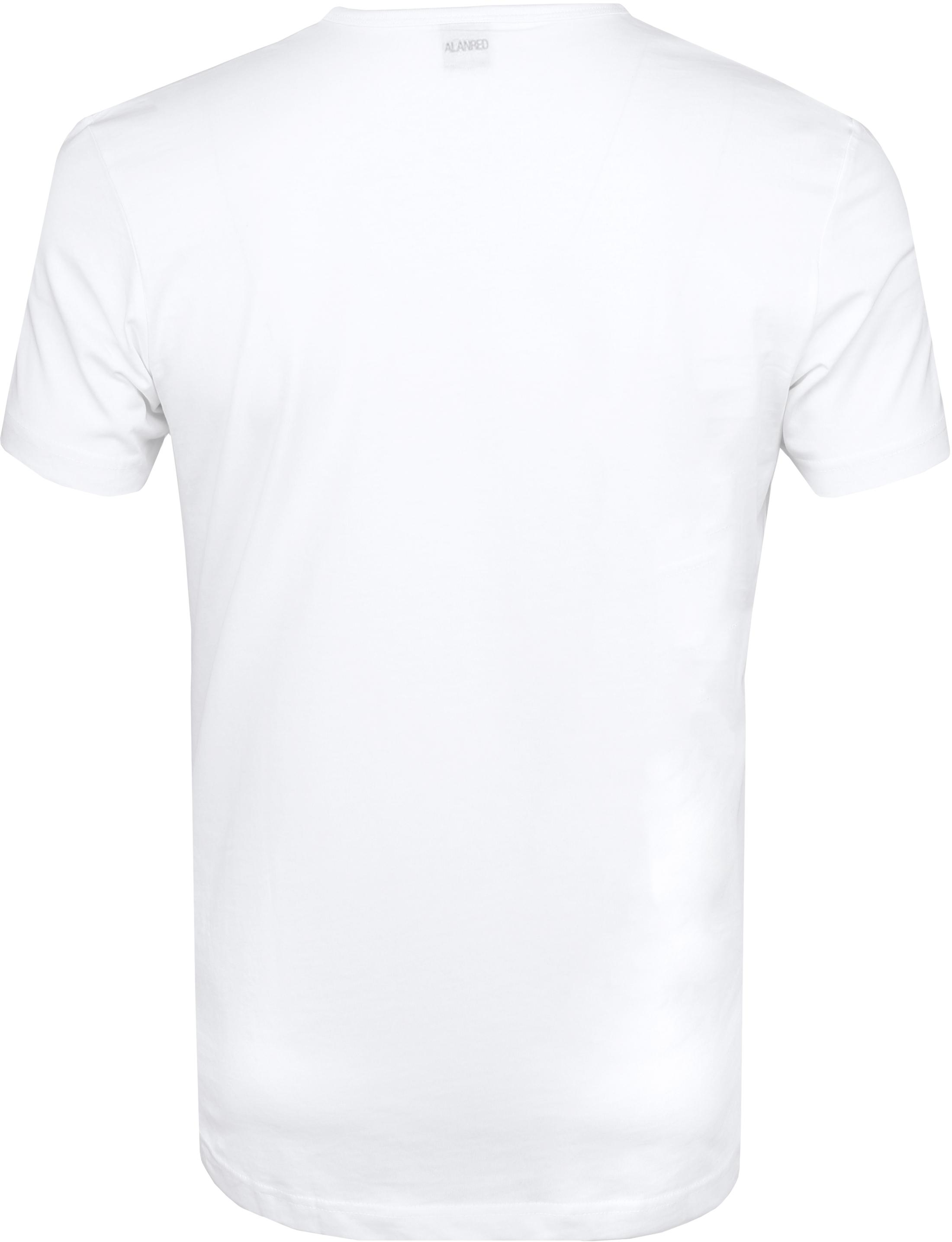 Alan Red Derby O-Hals T-Shirt Wit (2Pack) foto 3