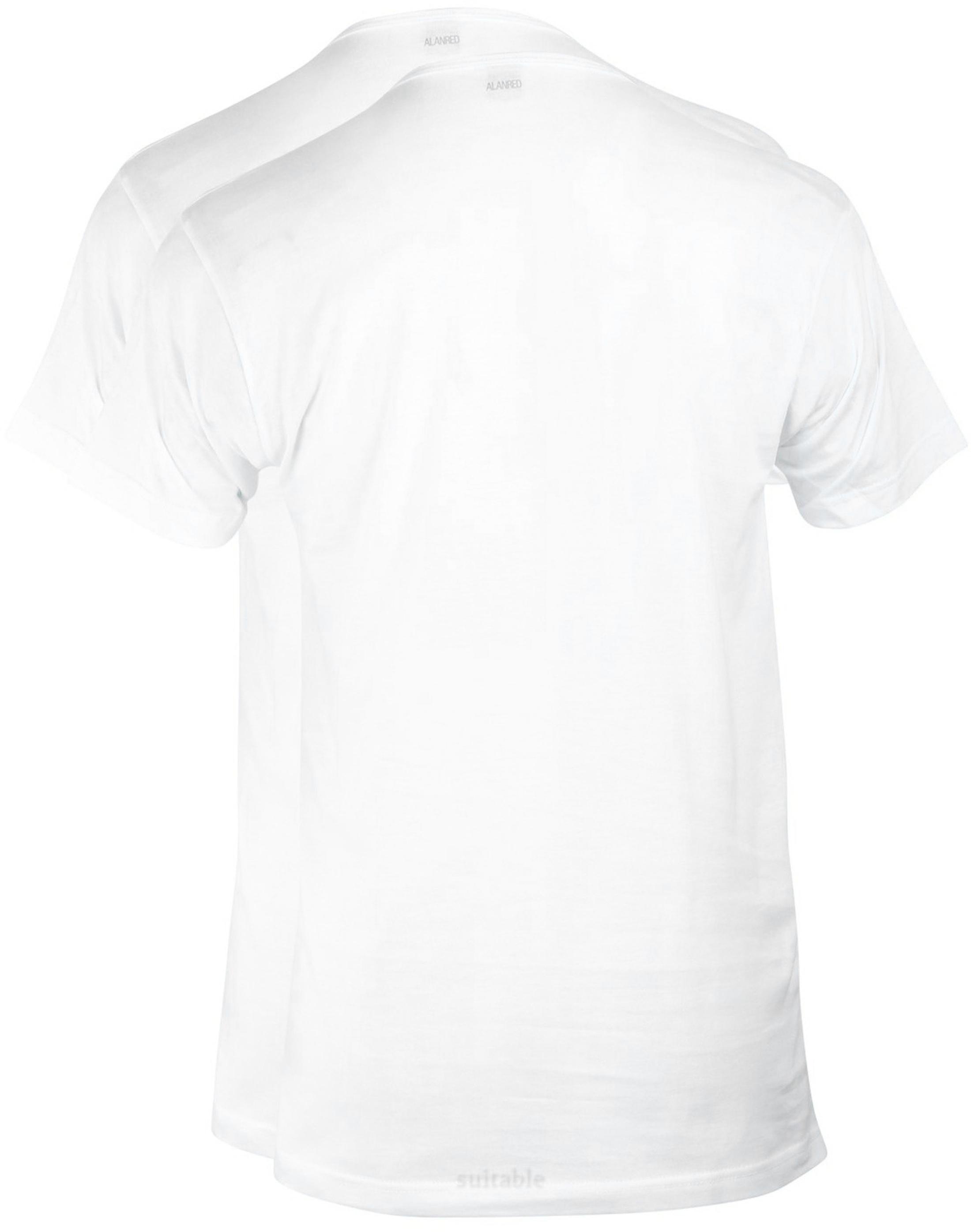 Alan Red Derby O-Hals T-Shirt Wit (2Pack) foto 2