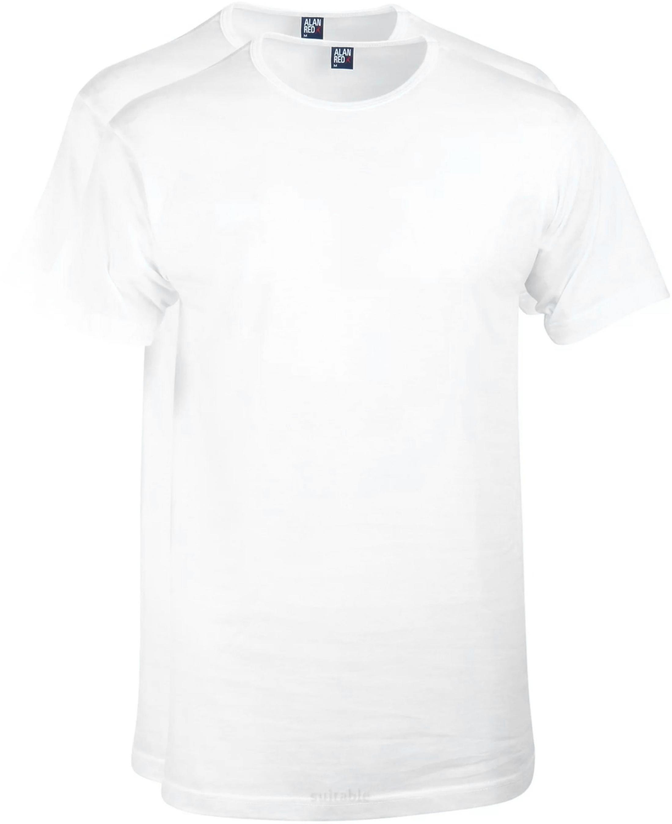 Alan Red Derby O-Hals T-Shirt Wit (2Pack) foto 0