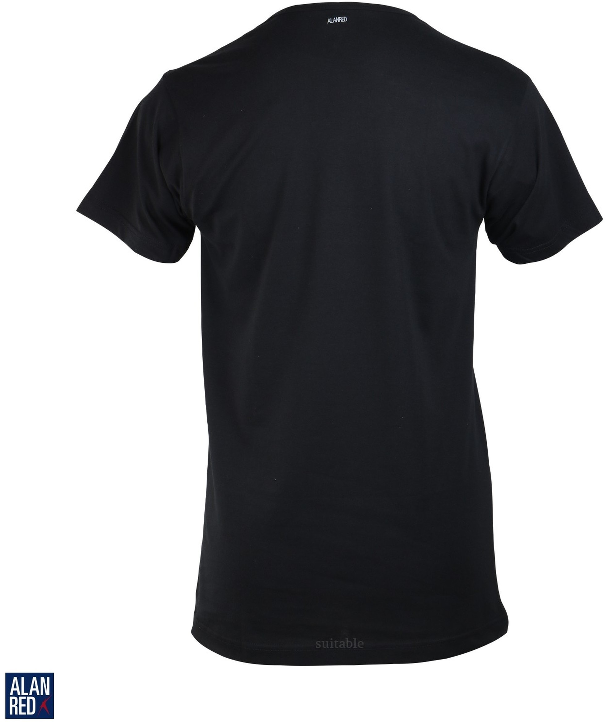 Alan Red Derby O-Hals T-Shirt Zwart (1Pack) foto 2