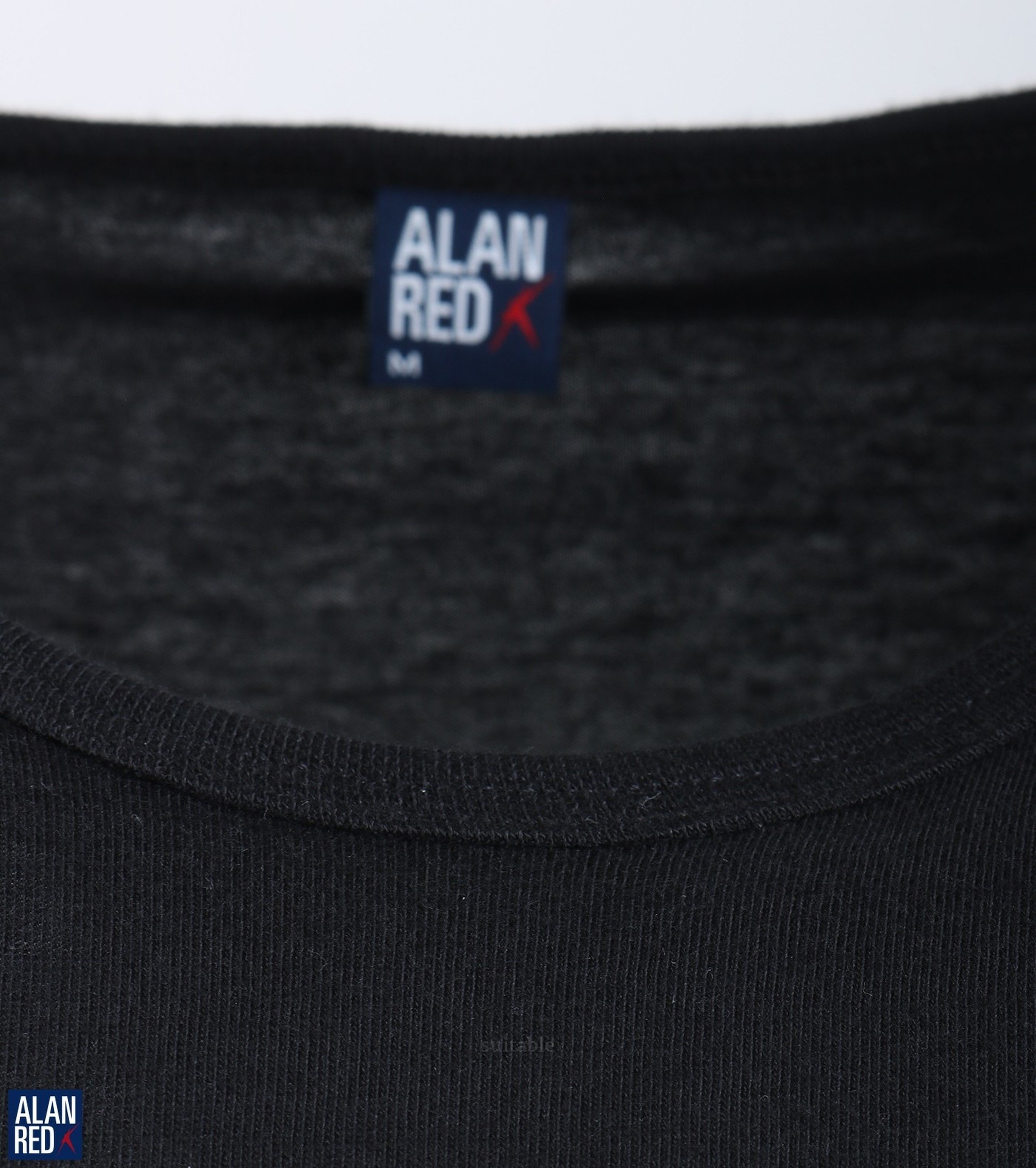 Alan Red Derby O-Hals T-Shirt Zwart (1Pack) foto 1