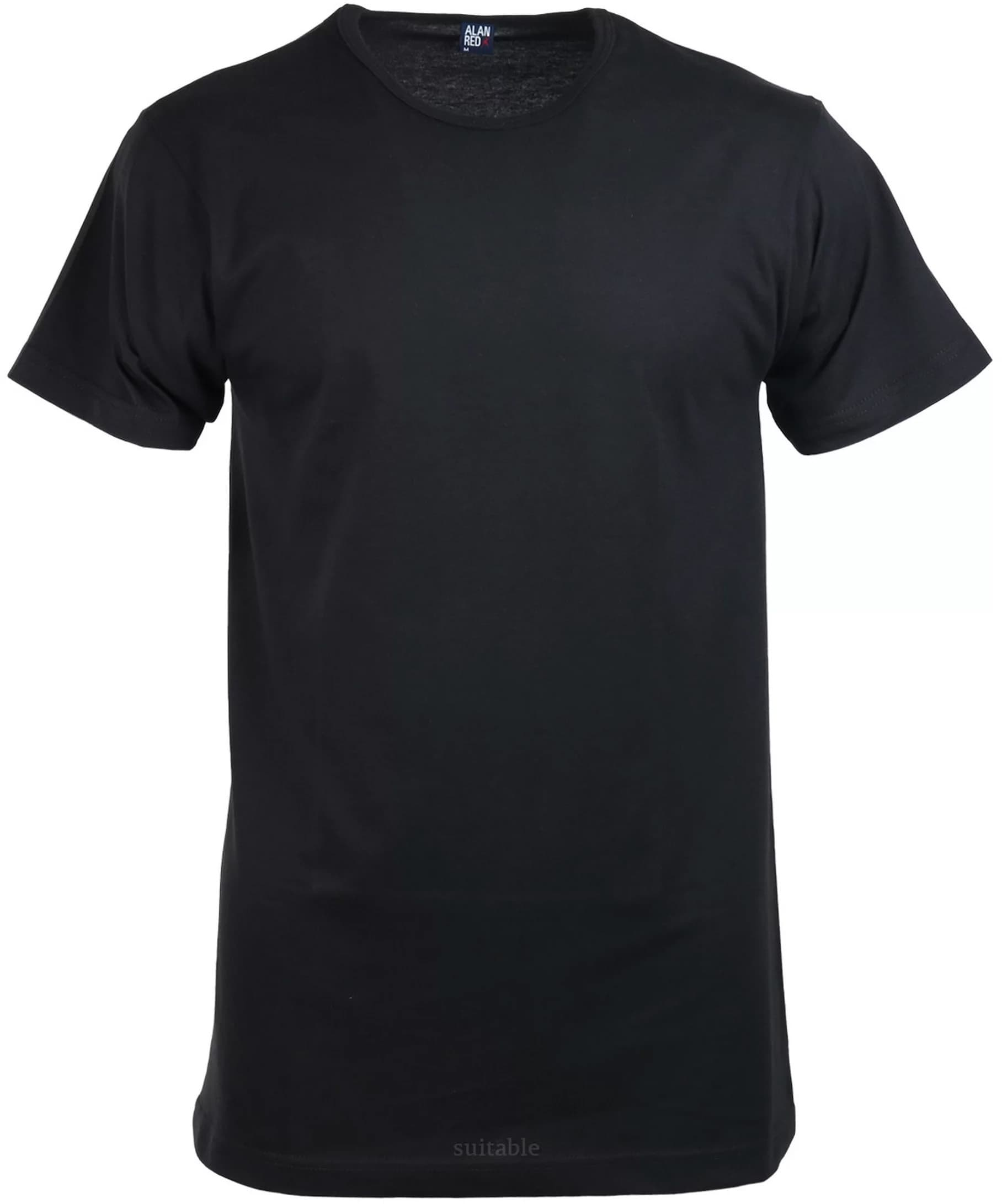 Alan Red Derby O-Hals T-Shirt Zwart (1Pack) foto 0
