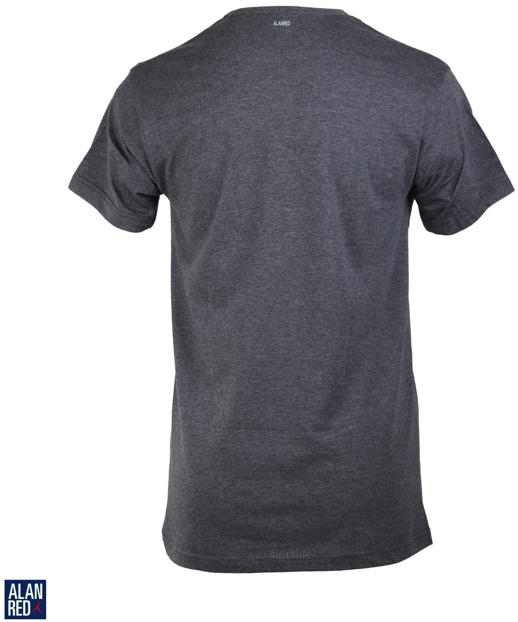 Alan Red Derby O-Neck T-shirt Dark Grey 1-Pack foto 1