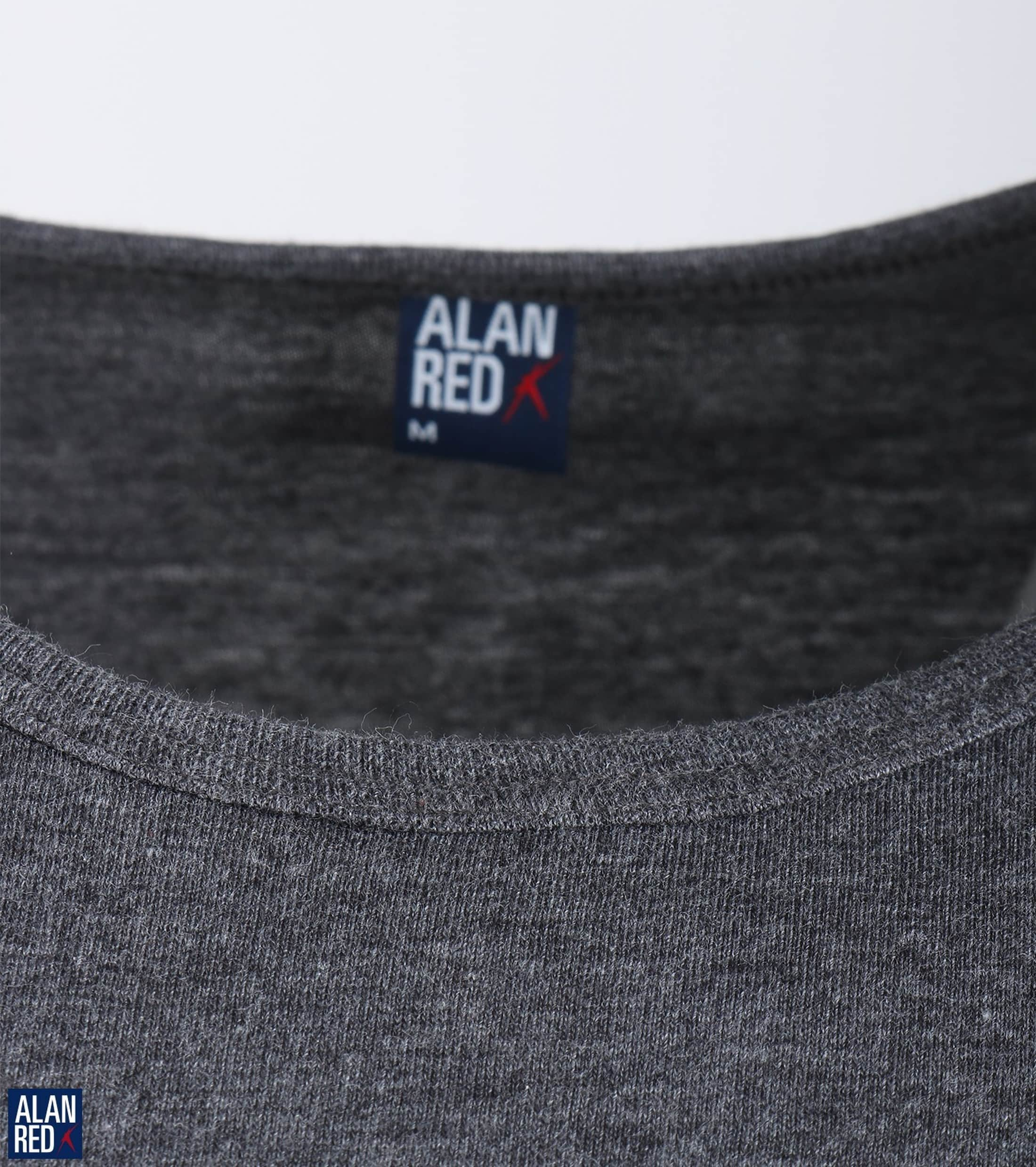 Alan Red Derby O-Neck T-shirt Dark Grey 1-Pack foto 2