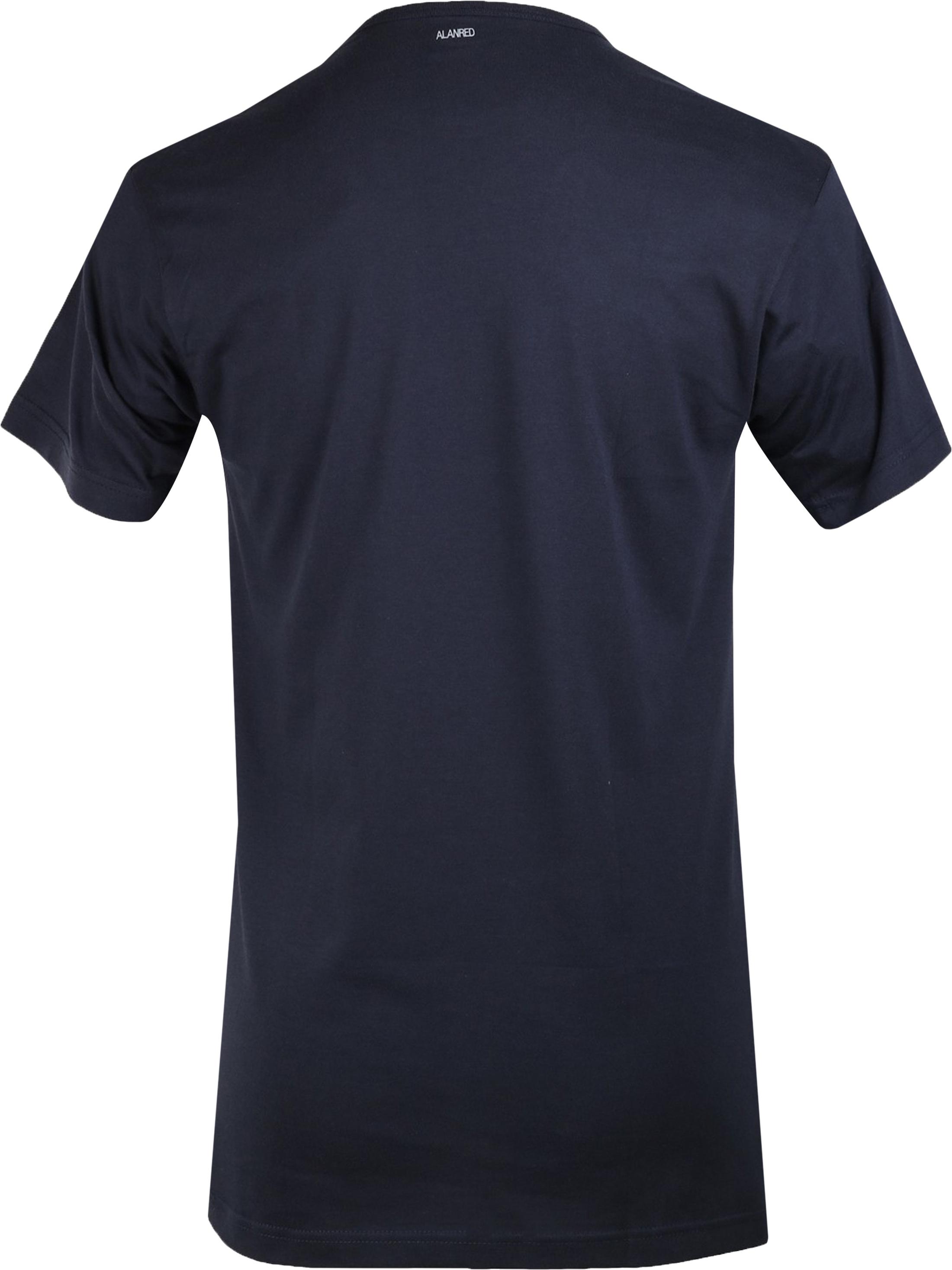 Alan Red Derby O-Neck T-shirt Navy 1-Pack foto 2