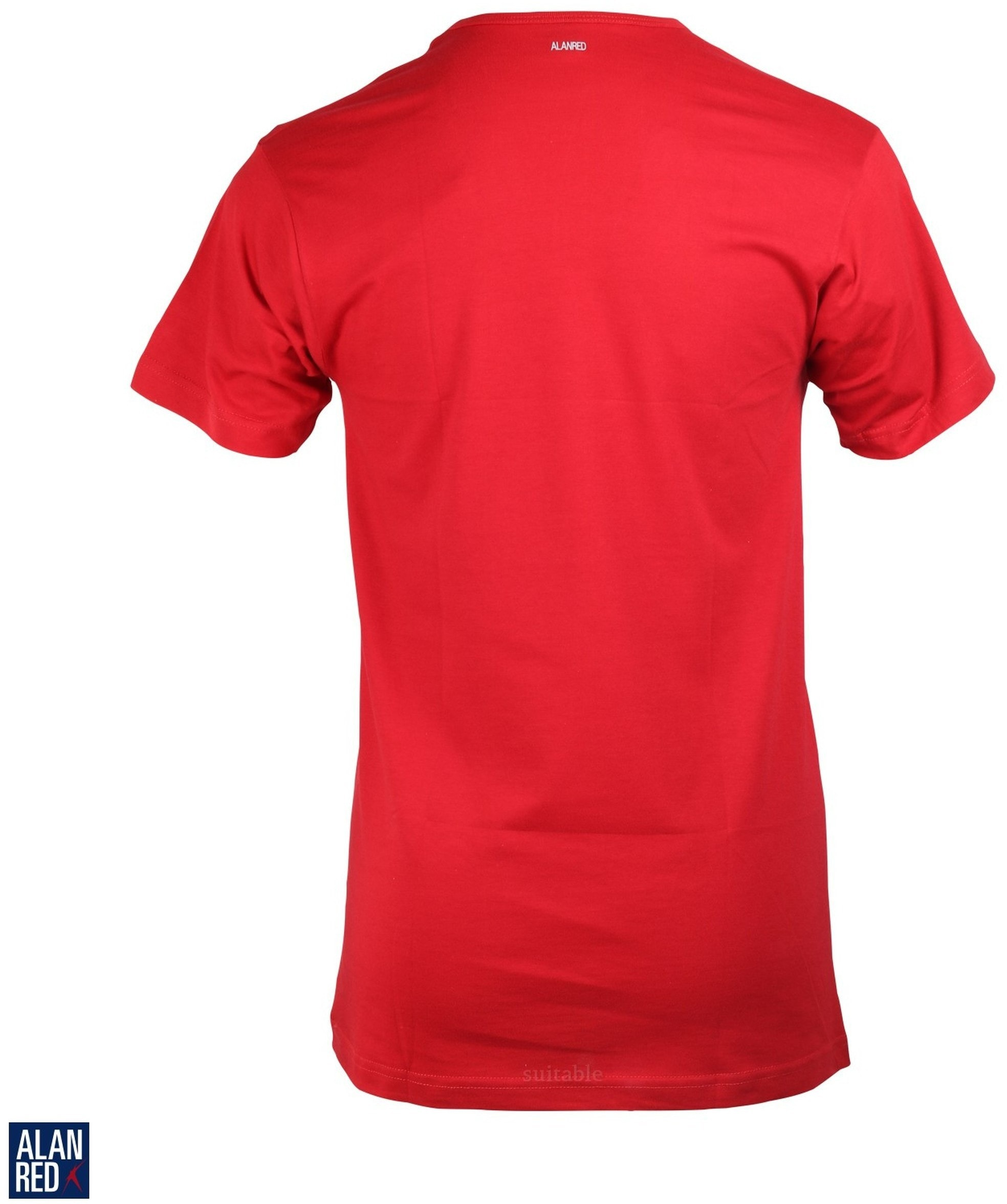 Alan Red Derby O-Neck T-shirt Red 1-Pack foto 2