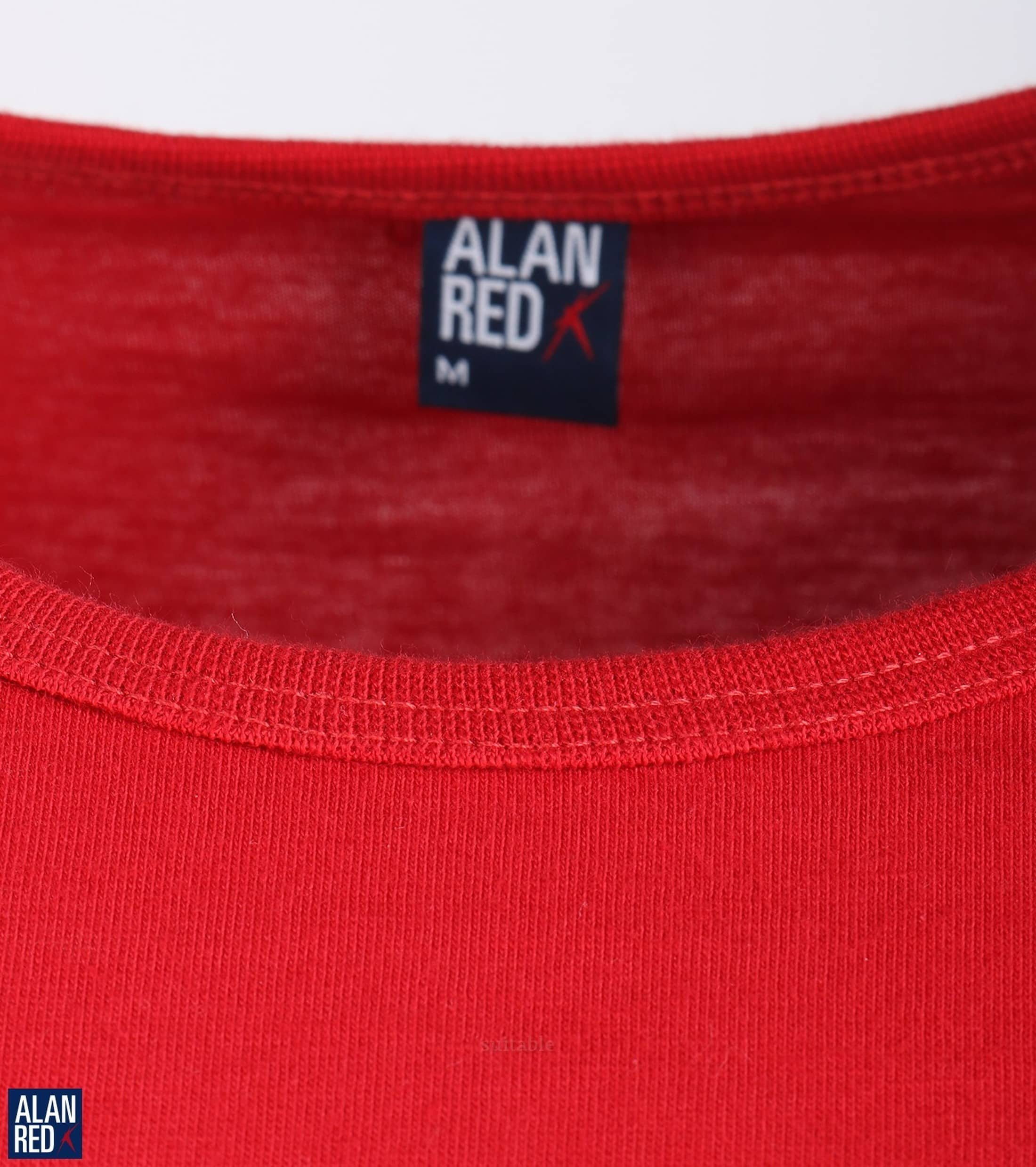 Alan Red Derby O-Neck T-shirt Red 1-Pack foto 1