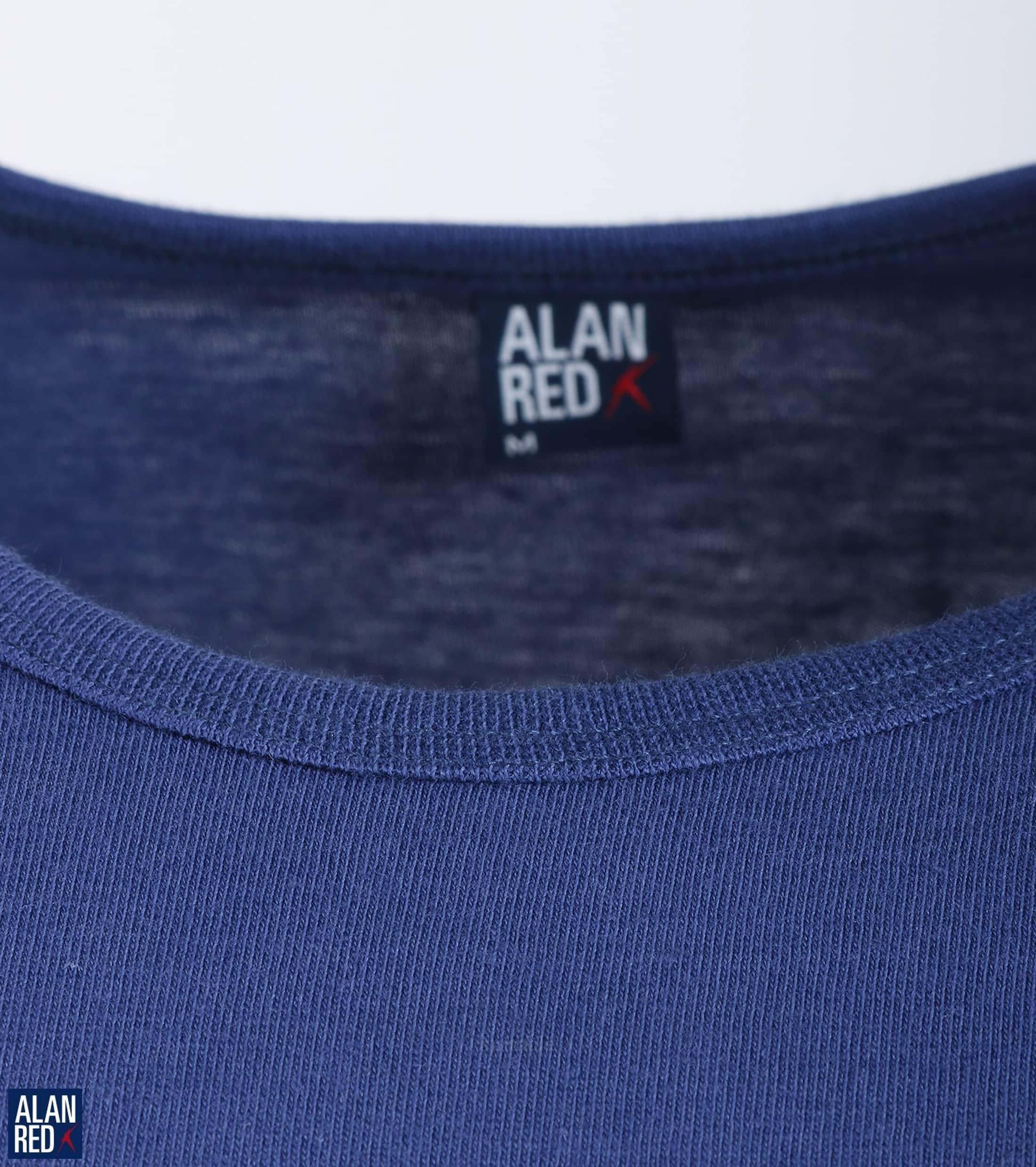 Alan Red Derby O-Neck T-shirt Ultramarine 1-Pack foto 2