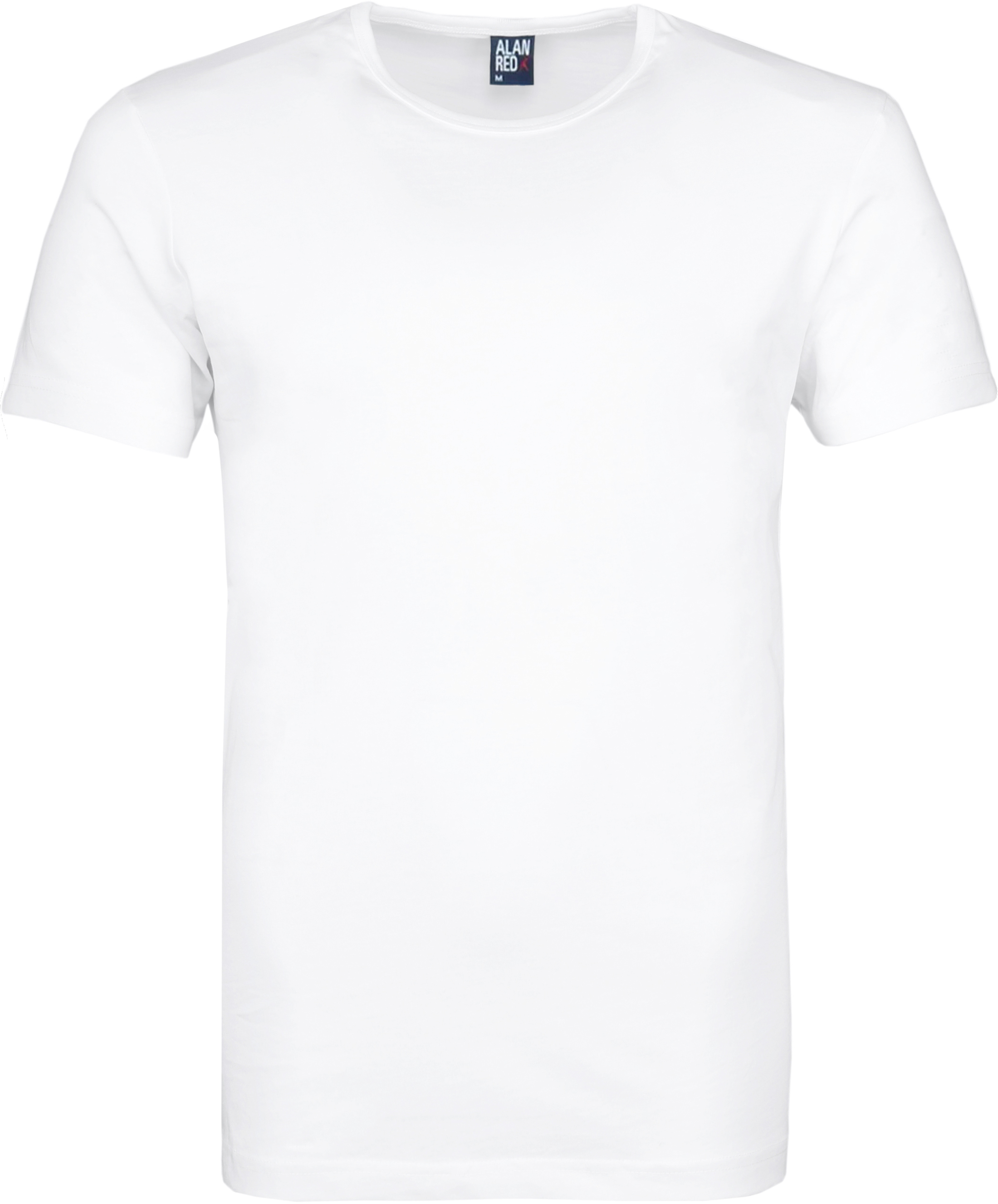 Alan Red Derby Round Neck T-shirt White 2-Pack foto 1