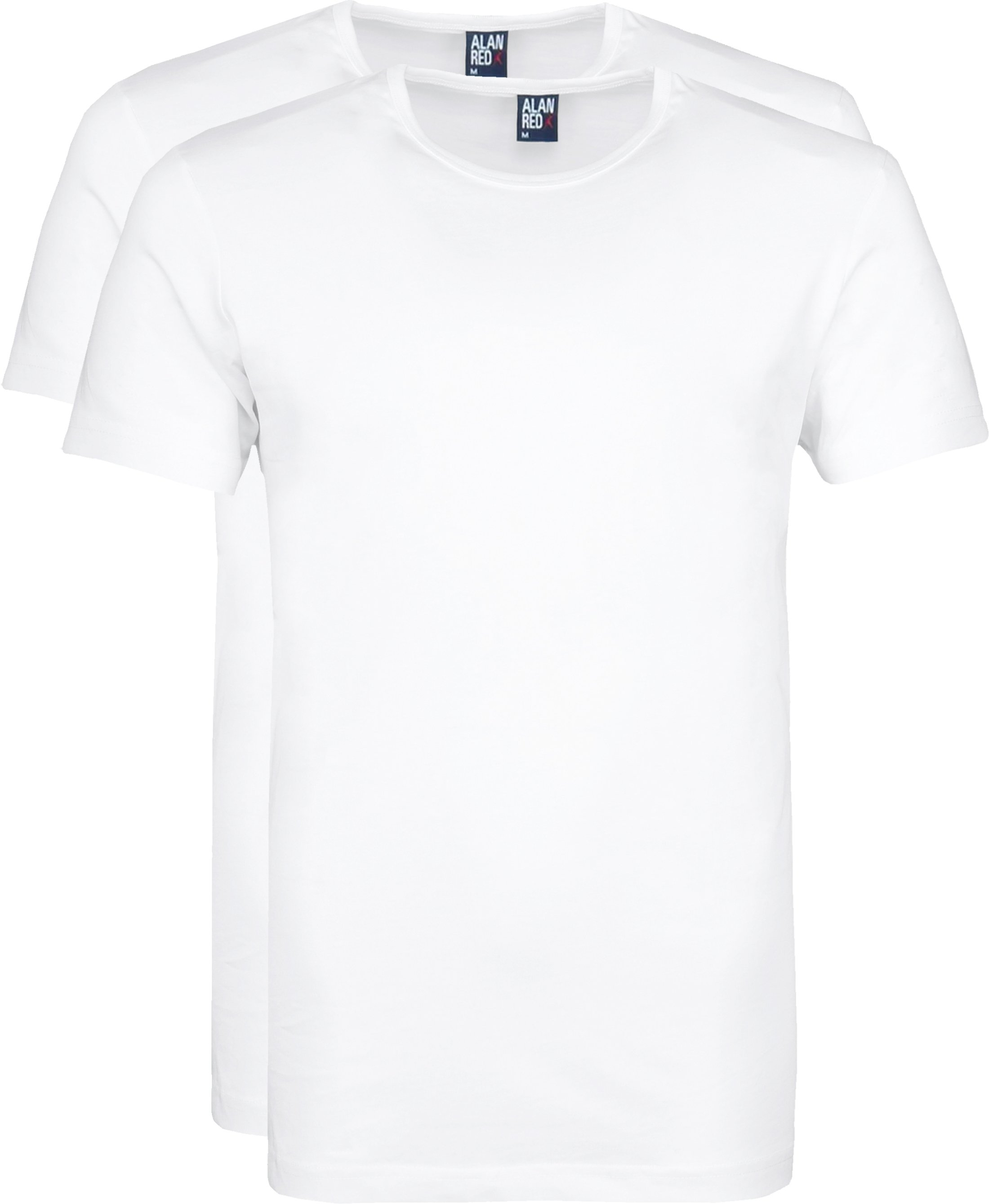 Alan Red Derby Round Neck T-shirt White 2-Pack foto 0