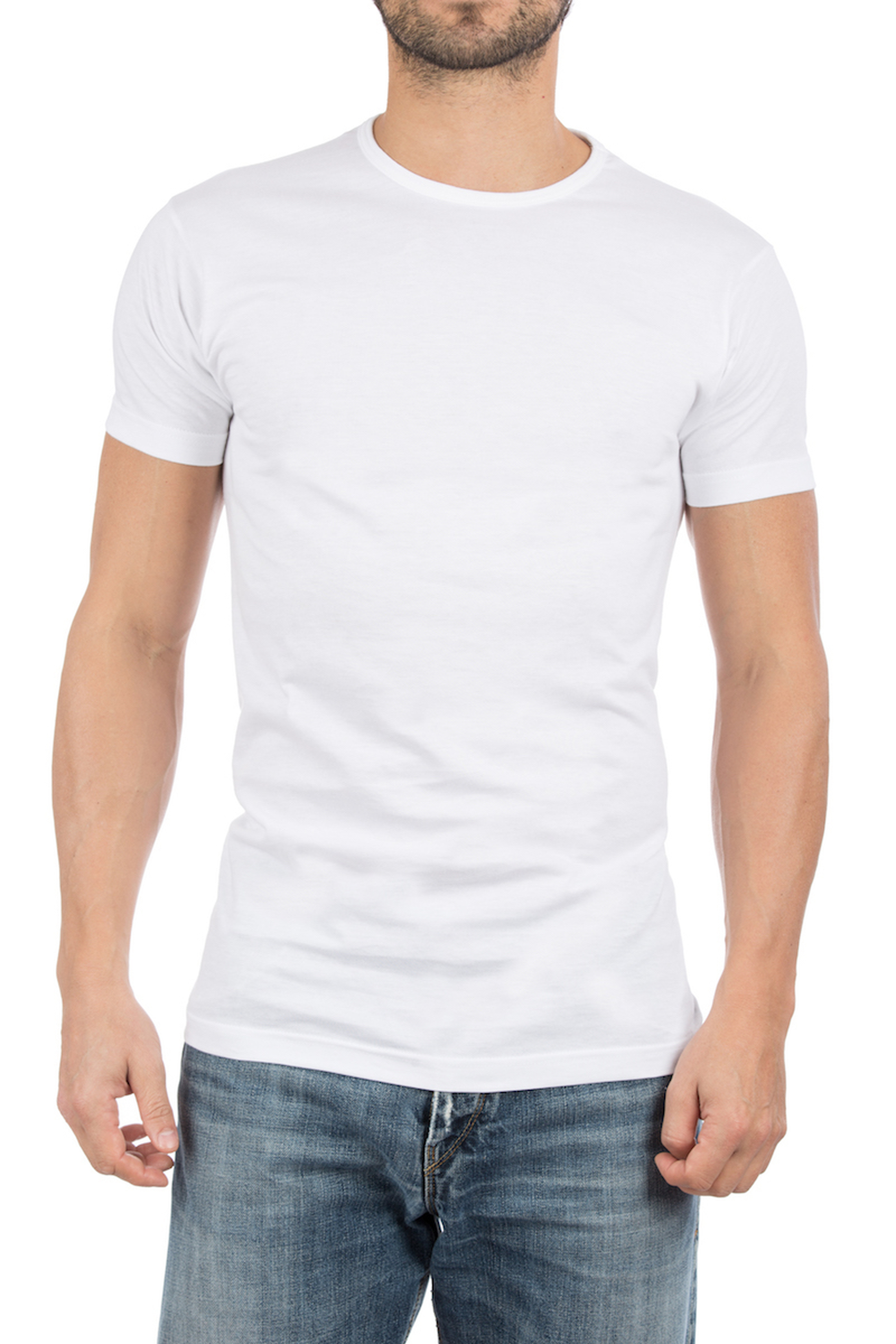 Alan Red Derby Round Neck T-shirt White 2-Pack photo 5