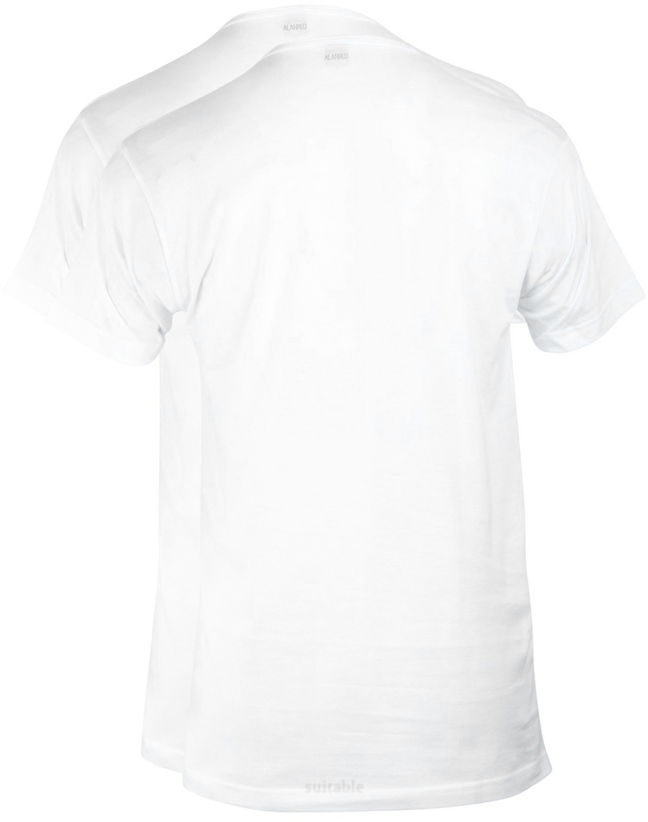 Alan Red Derby Round Neck T-shirt White 2-Pack foto 2