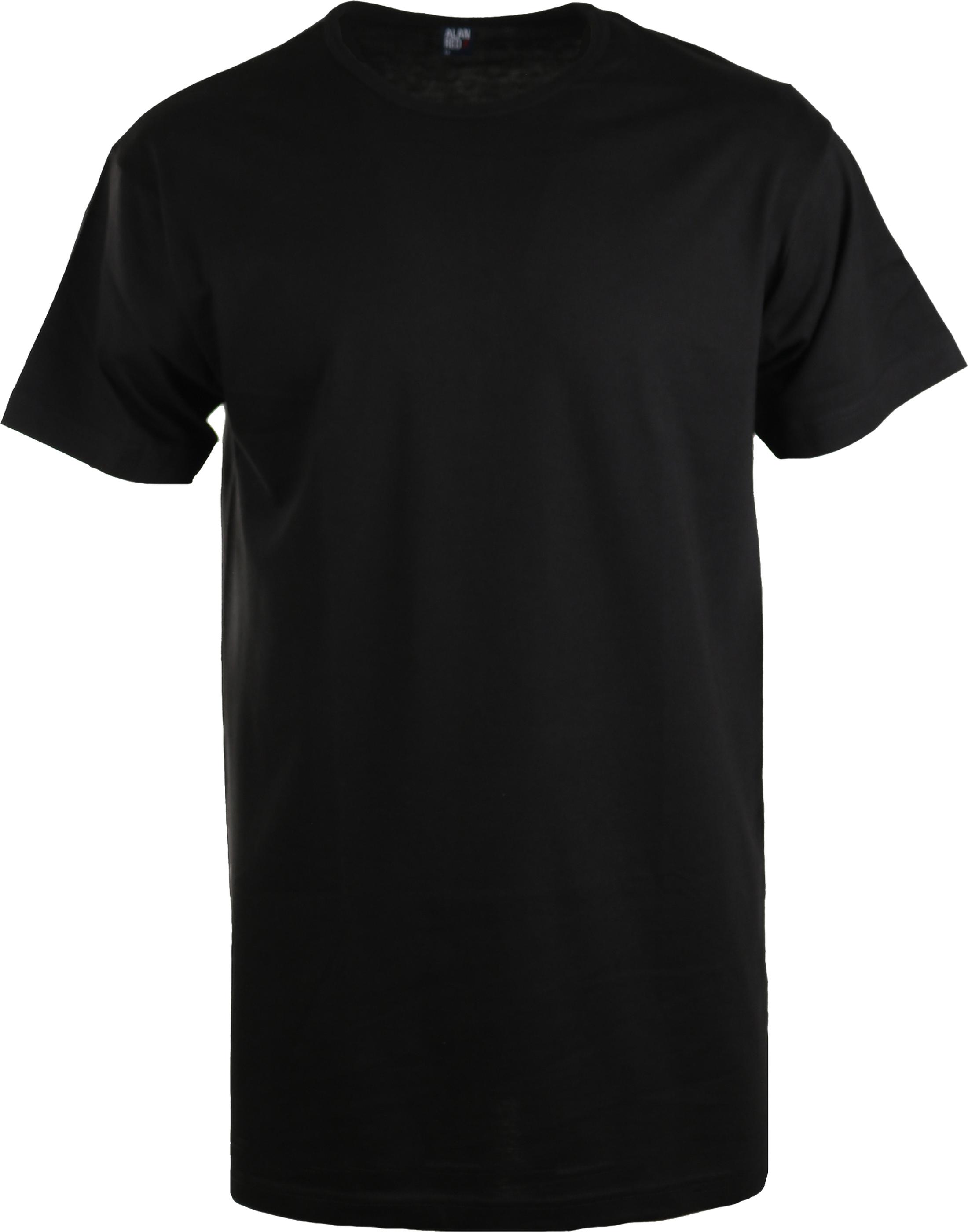 Alan Red Extra Lang T-Shirts Derby Schwarz (1 Pack) foto 0