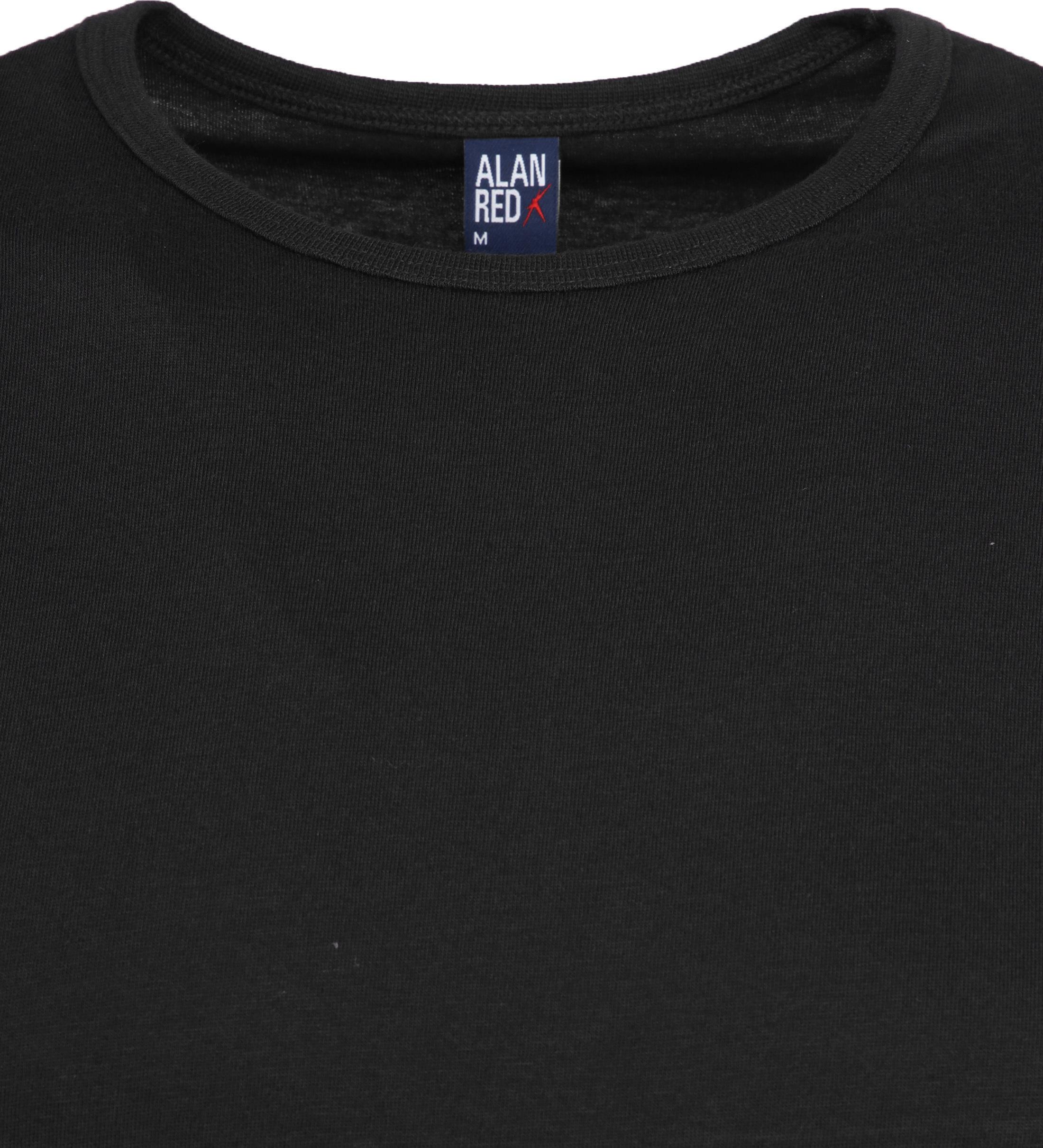 Alan Red Extra Lang T-Shirts Derby Schwarz (1 Pack) foto 1