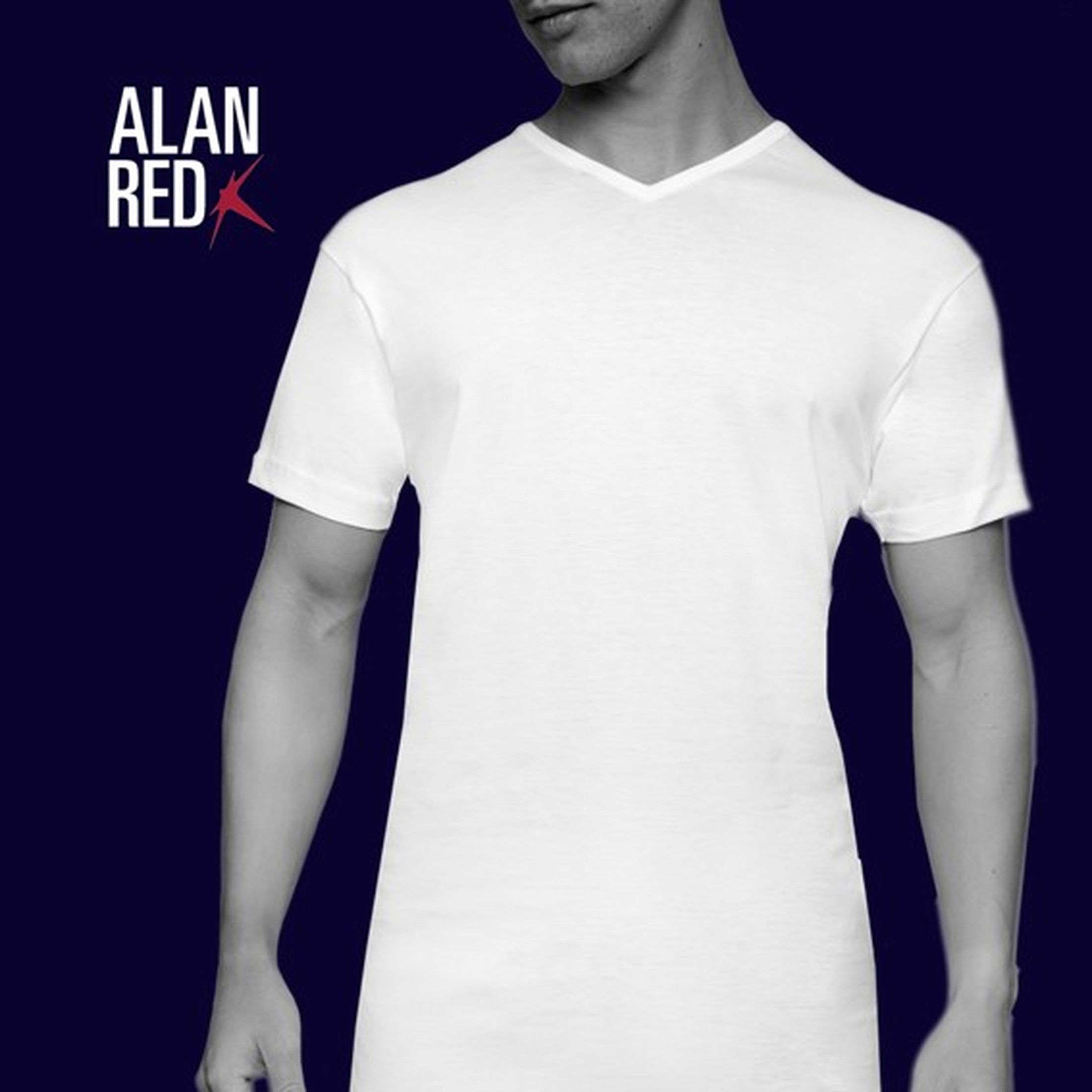 Alan Red Extra Lang T-Shirts Vermont (2er-Pack)