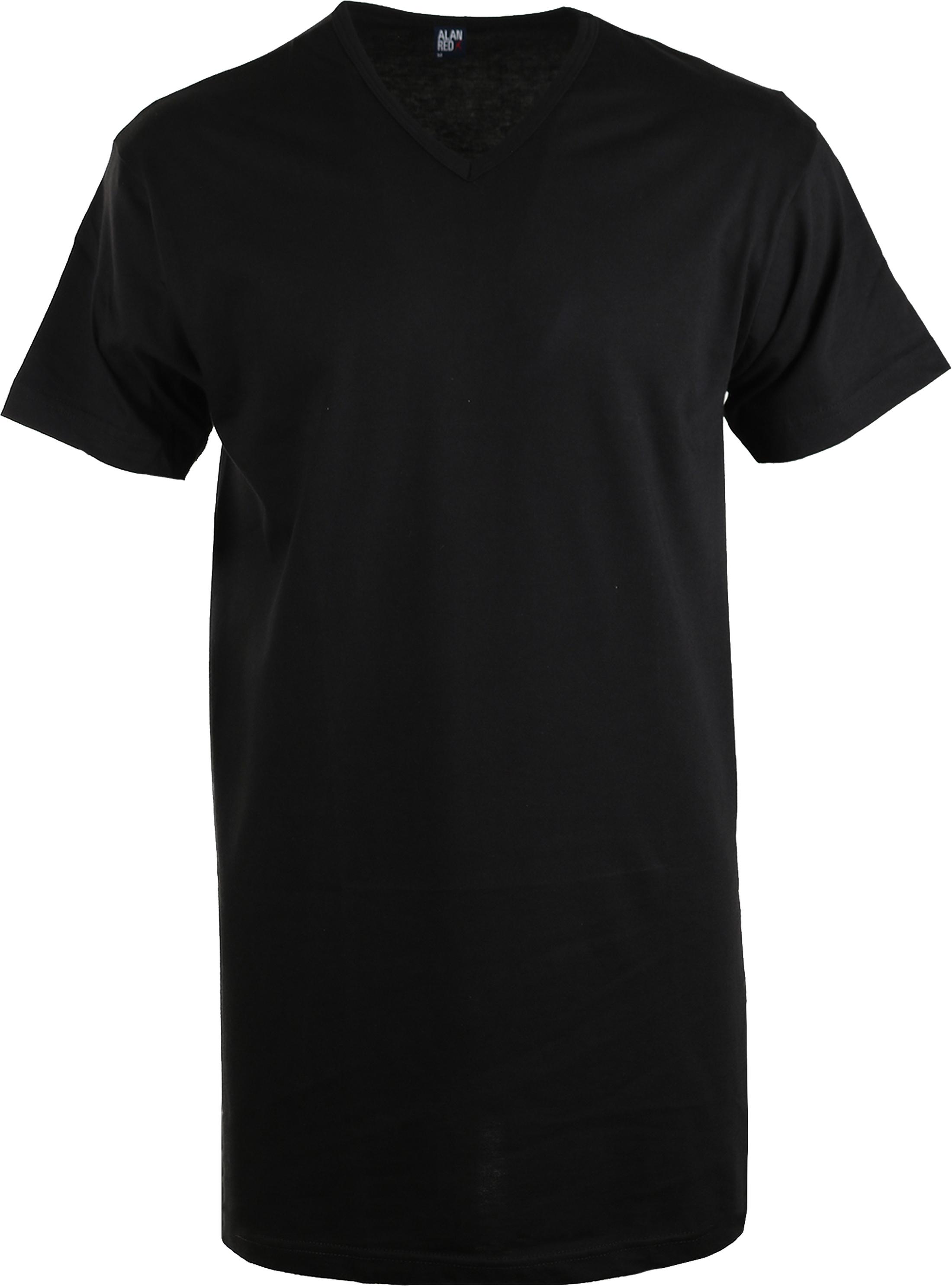 Alan Red Extra Lang T-Shirts Vermont Schwarz (1-Pack) foto 0