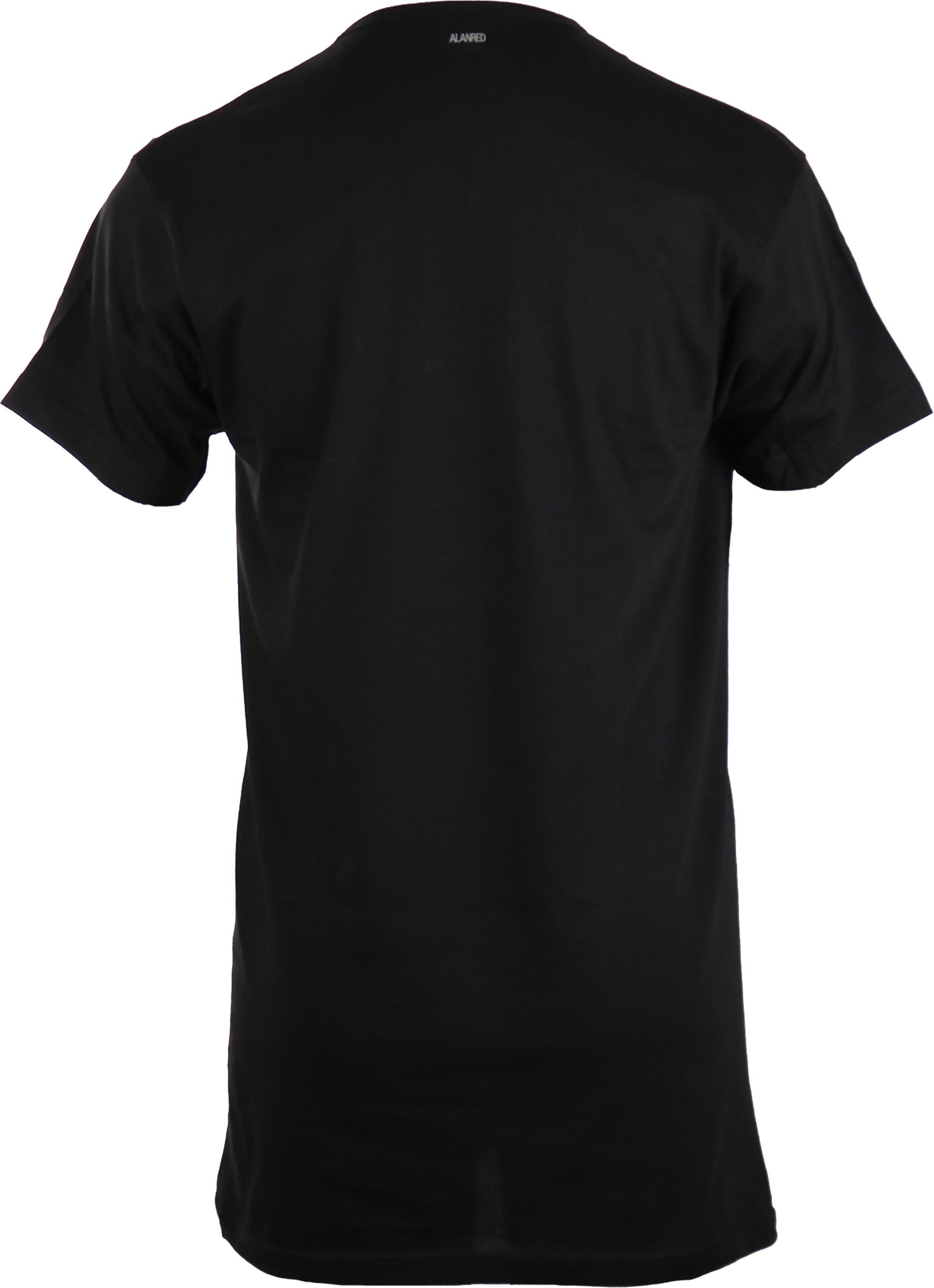 Alan Red Extra Lang T-Shirts Vermont Schwarz (1-Pack) foto 1