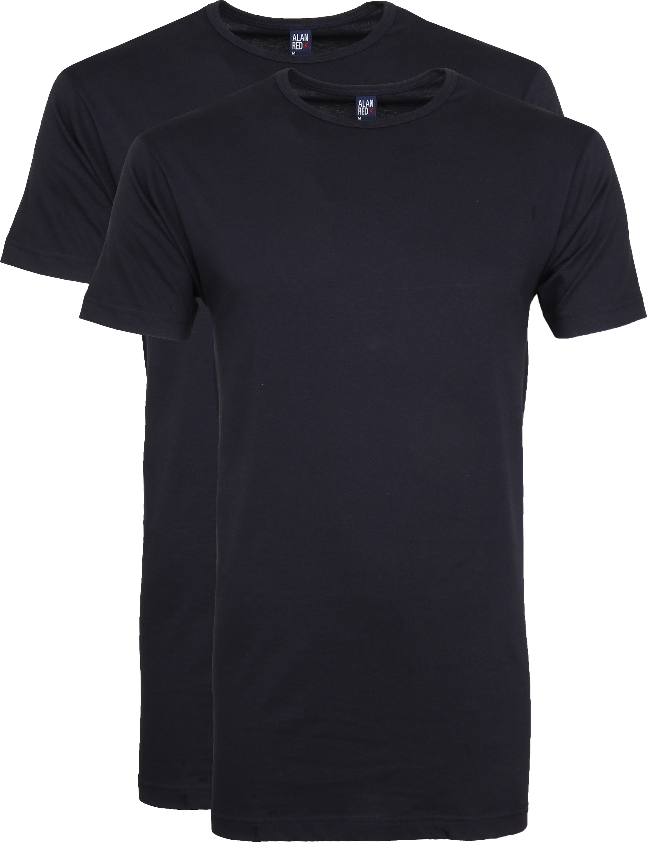 Alan Red Extra Long T-Shirts Derby Navy (2-Pack) foto 0