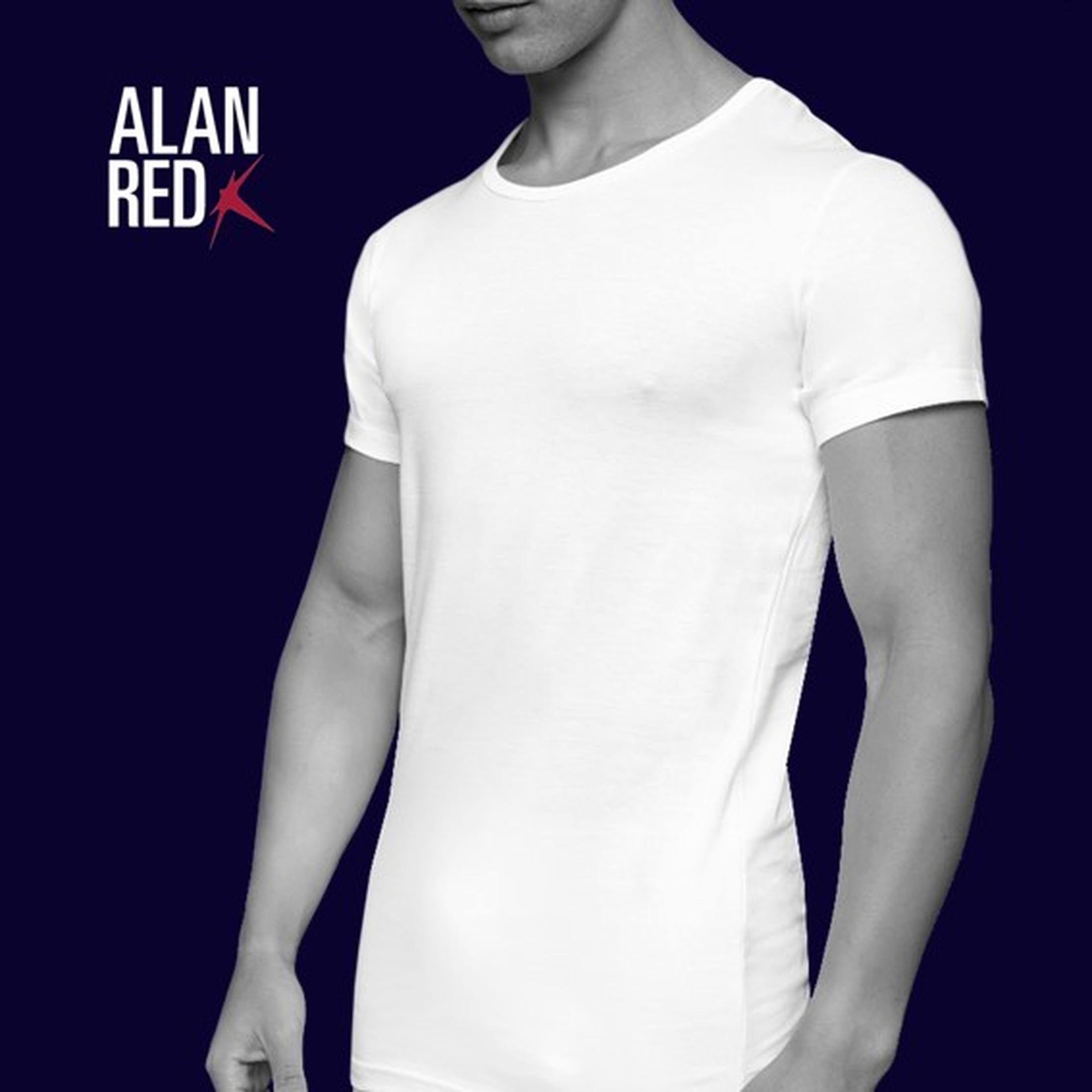 Alan Red James Brede O-Hals Wit (2Pack)
