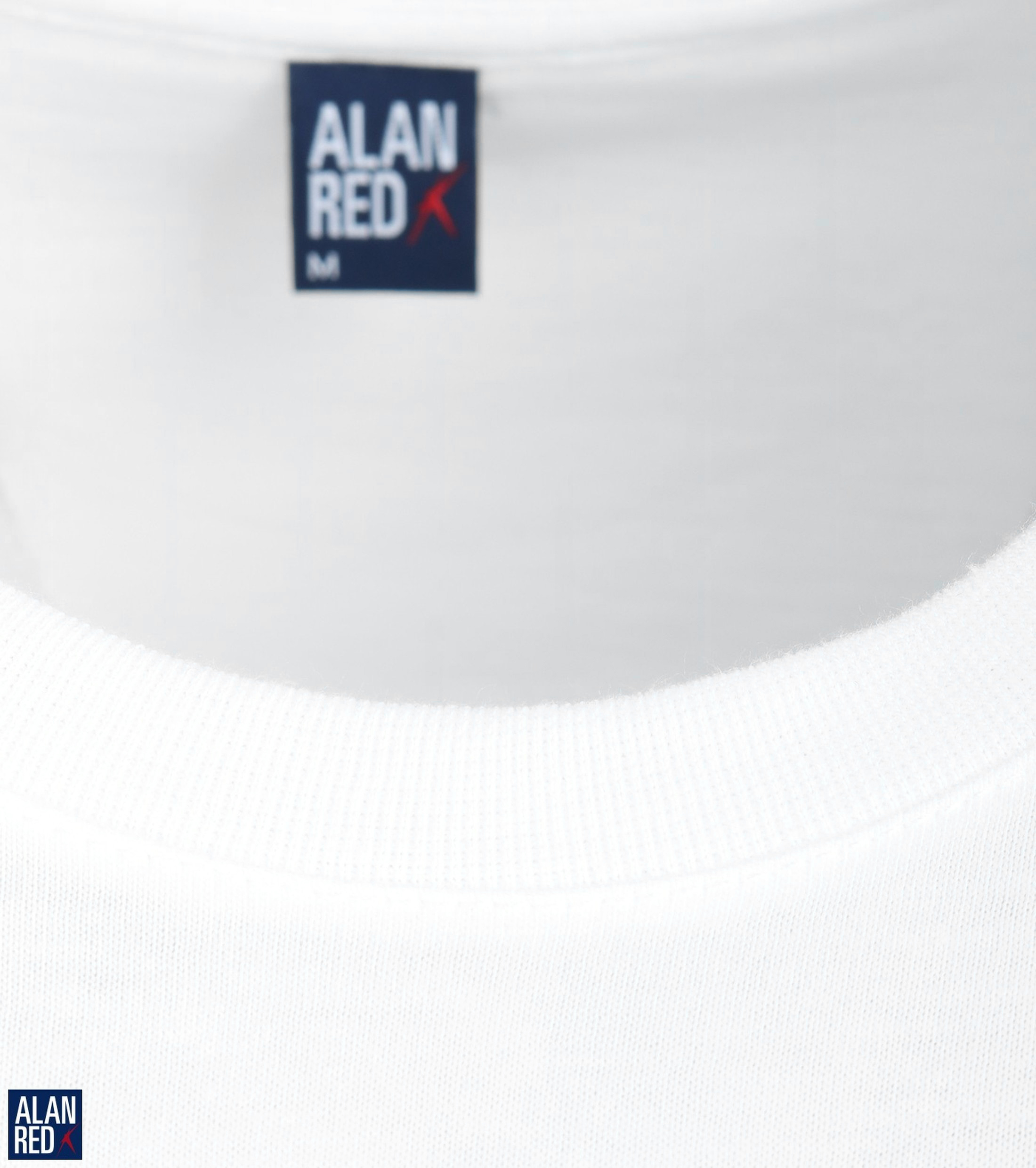 Alan Red James Wide Round Neck White 2-Pack