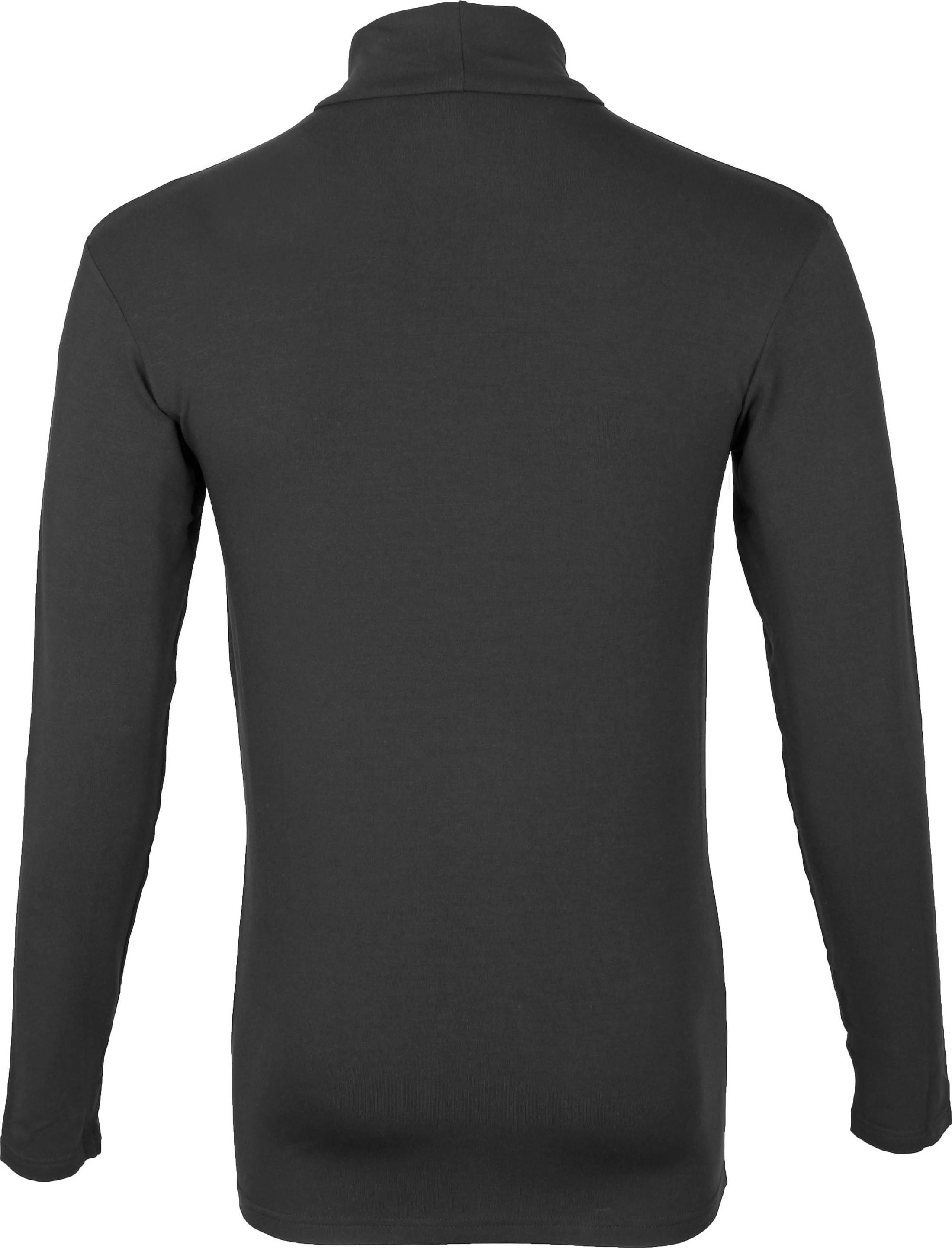 Alan Red Master Col Longsleeve Shirt Zwart