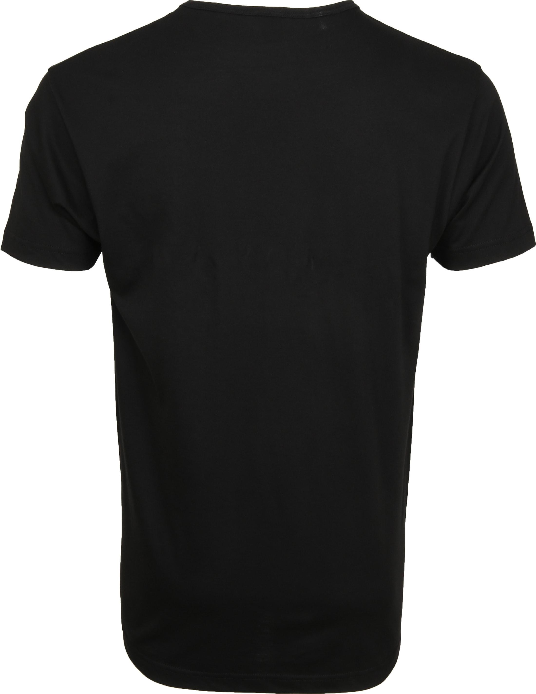 Alan Red Mike T-shirt Logo Zwart foto 2