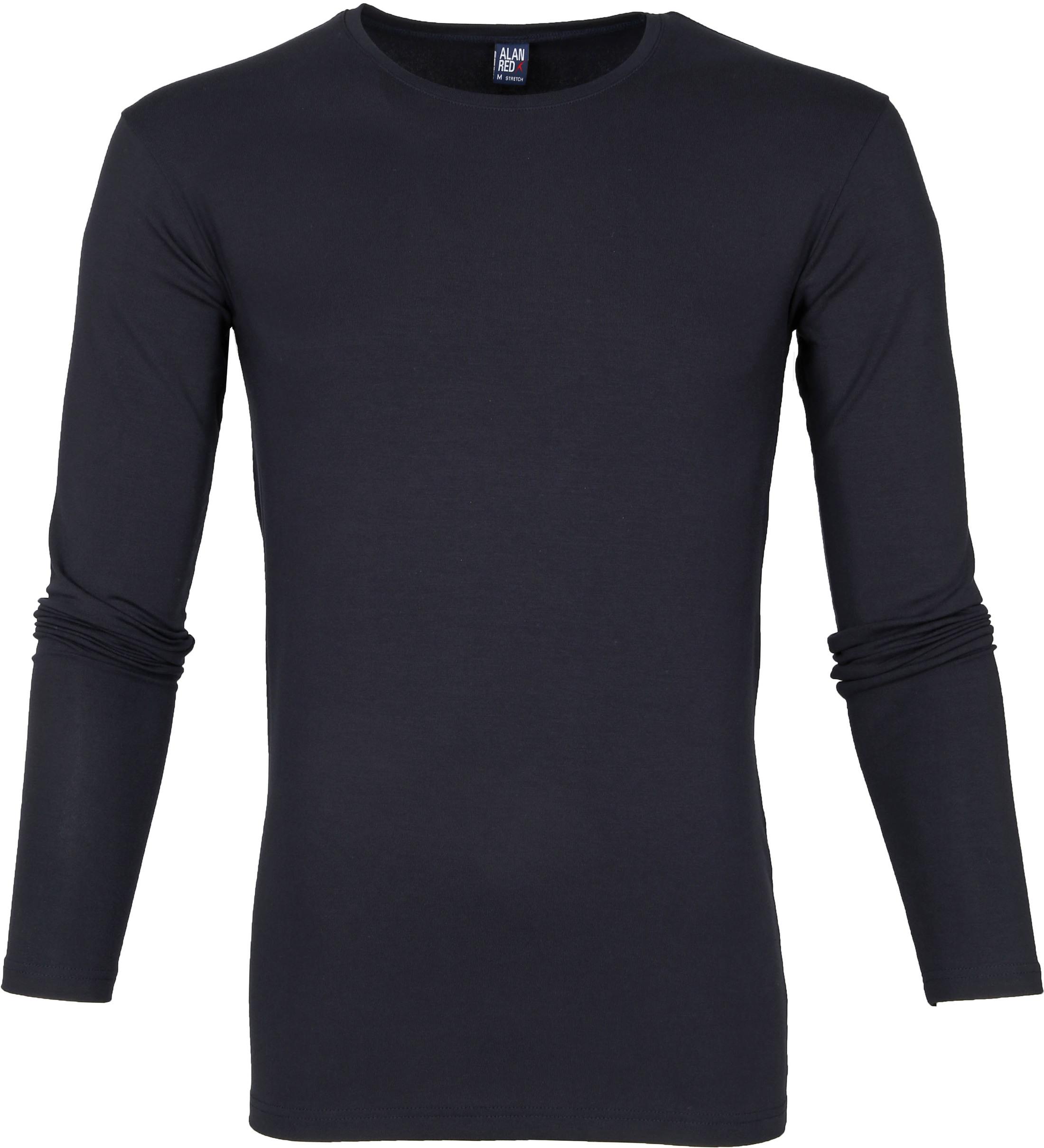 Alan Red Milton Longsleeve Shirt Donkerblauw