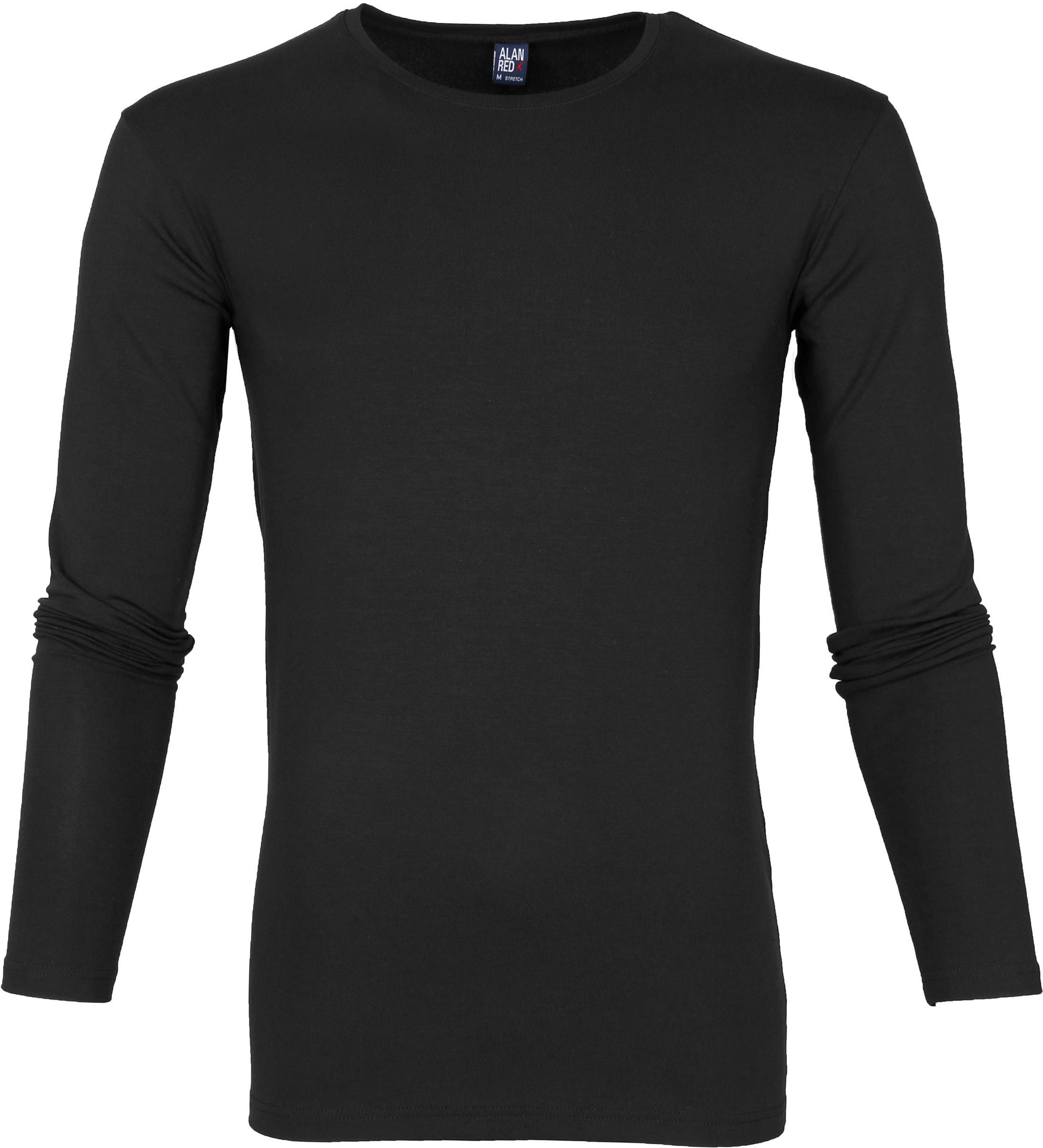 Alan Red Milton Longsleeve Shirt Zwart