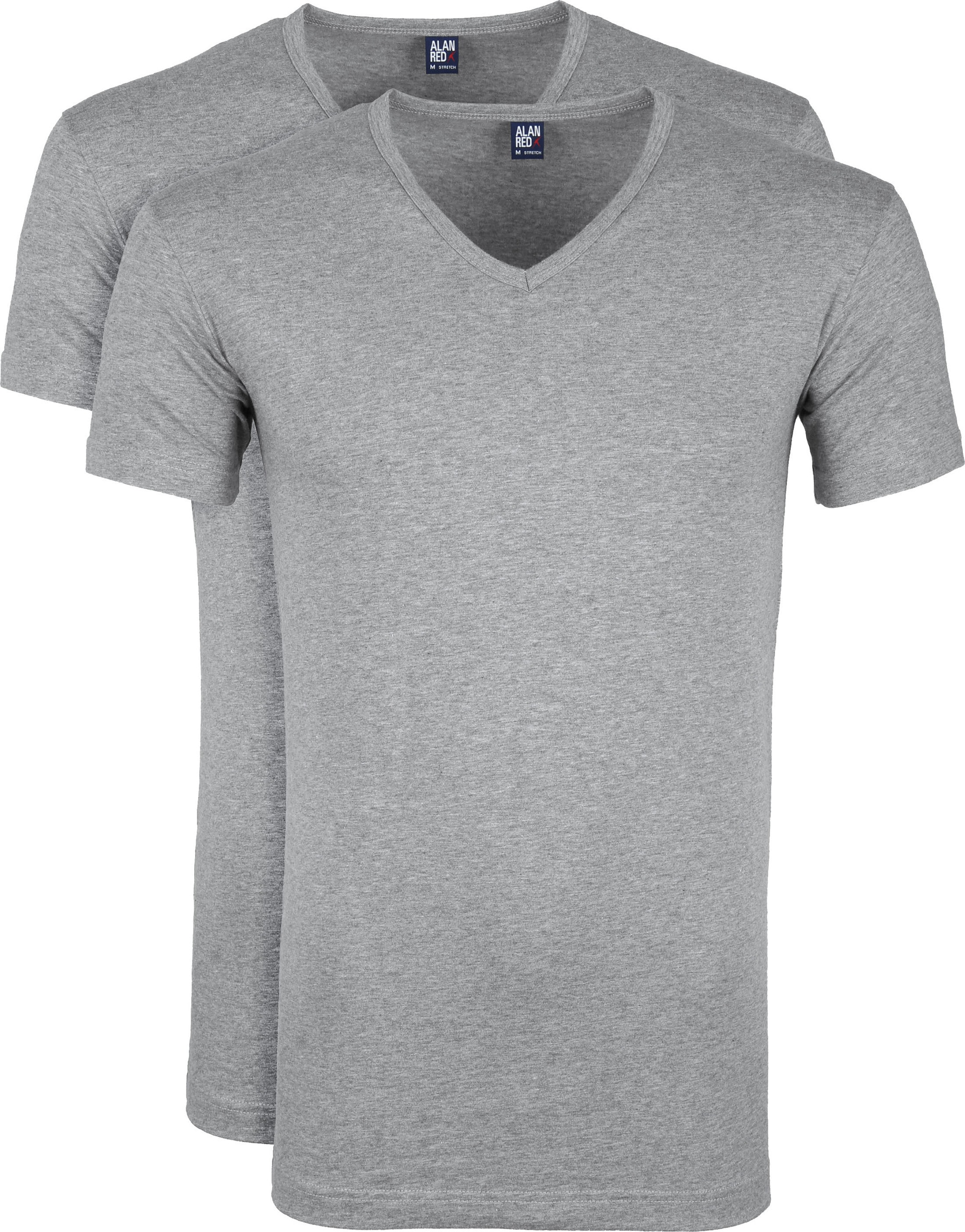 Alan Red Oklahoma T-shirt Stretch Grijs (2pack) foto 0