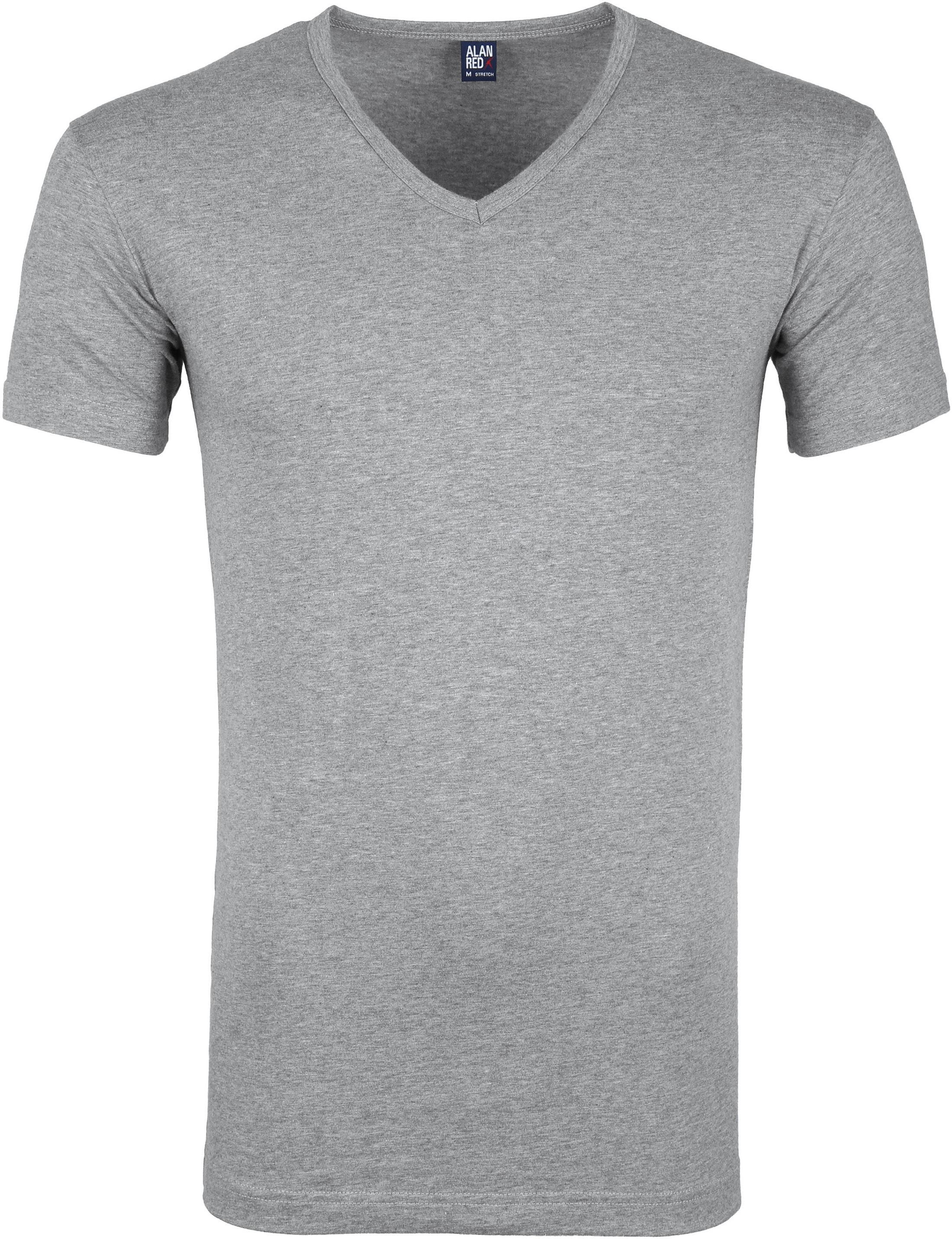 Alan Red Oklahoma T-shirt Stretch Grijs (2pack) foto 1