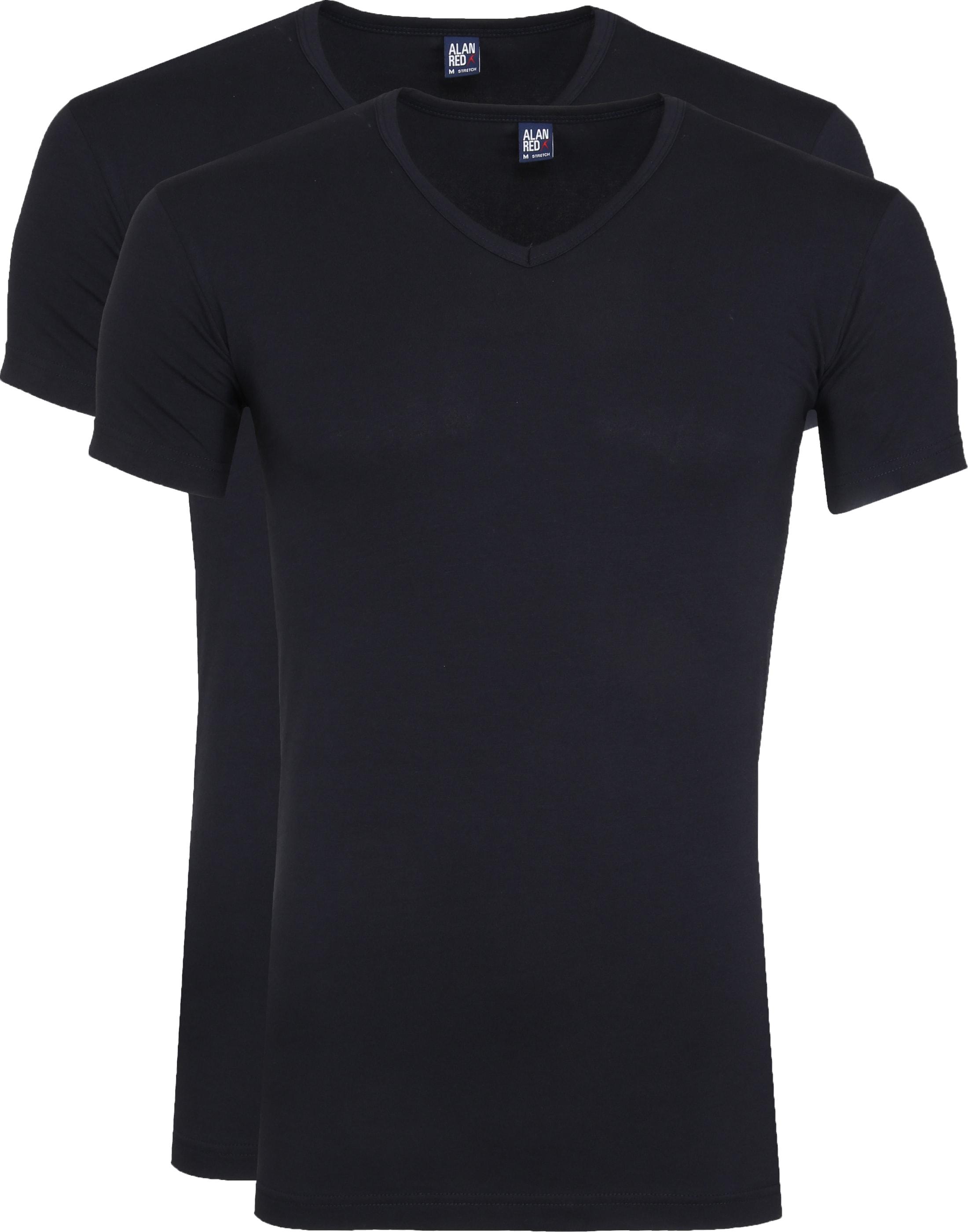 Alan Red Oklahoma T-Shirt Stretch Navy (2-Pack) foto 0