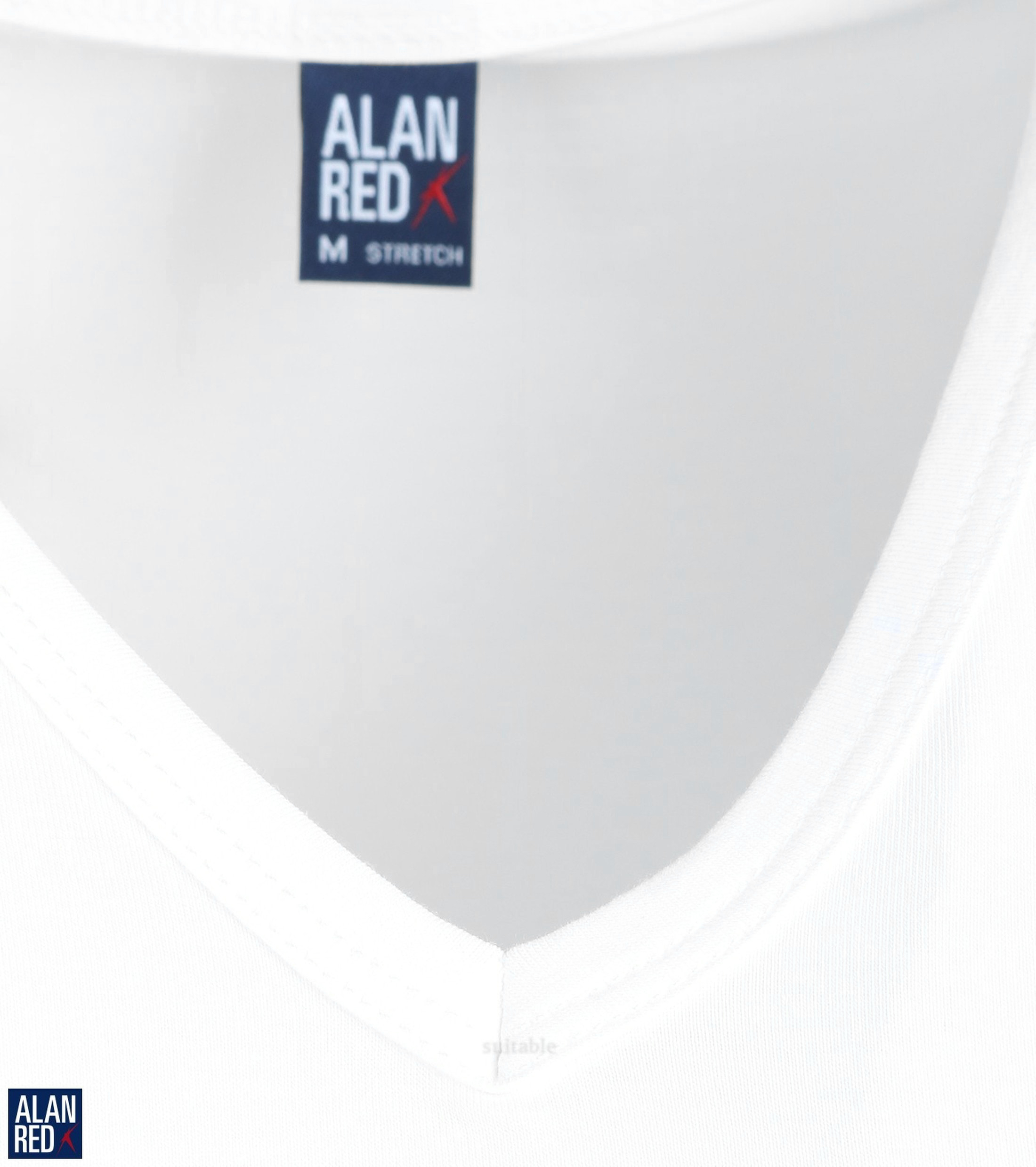 Alan Red Oklahoma T-shirt Stretch White 2-Pack foto 2