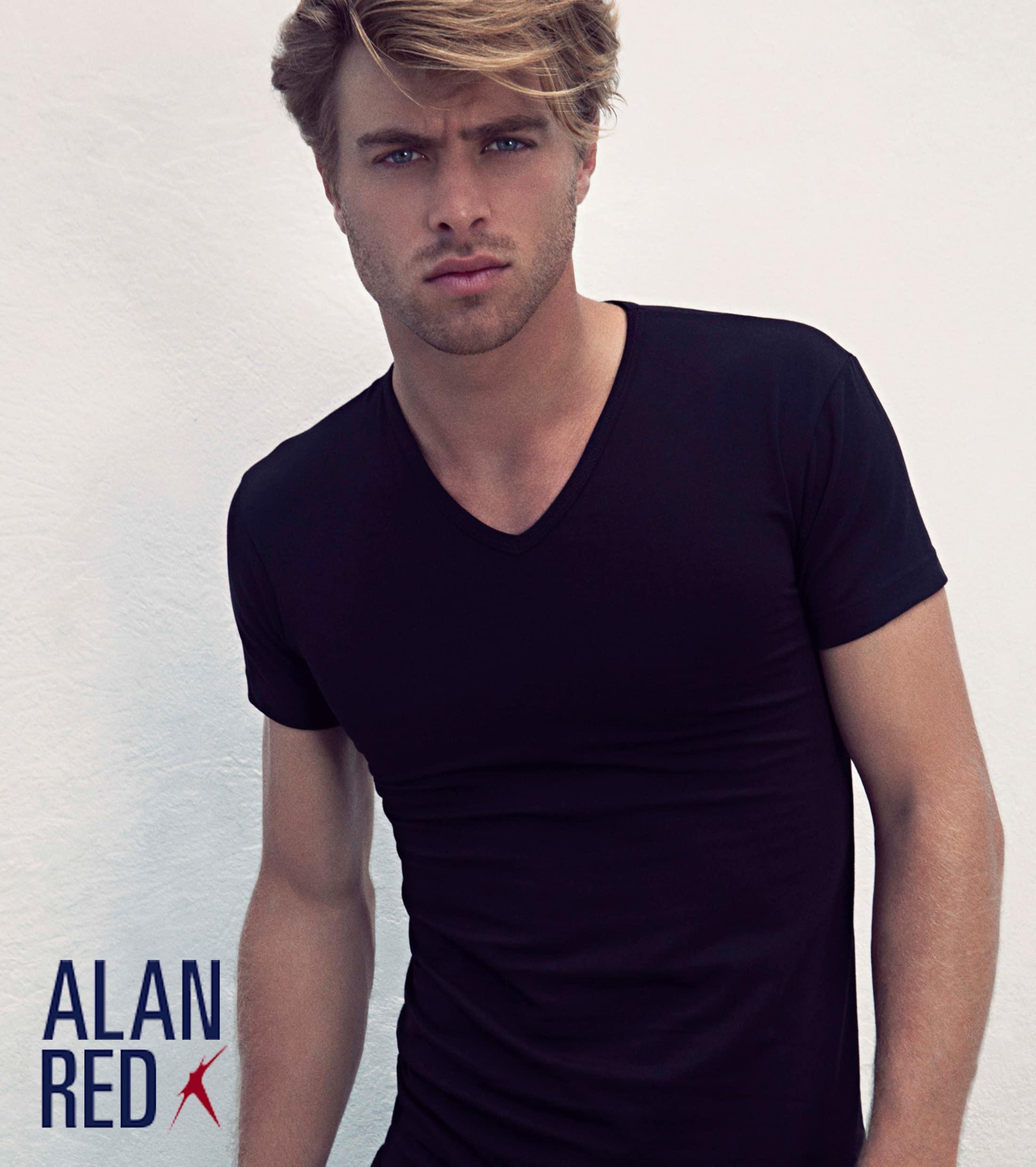Alan Red Oklahoma T-shirt Stretch Zwart (1pack) foto 3