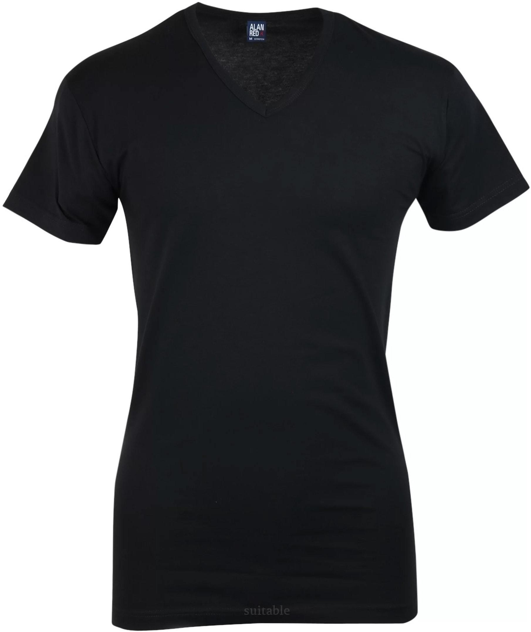 Alan Red Oklahoma T-shirt Stretch Zwart (1pack) foto 0