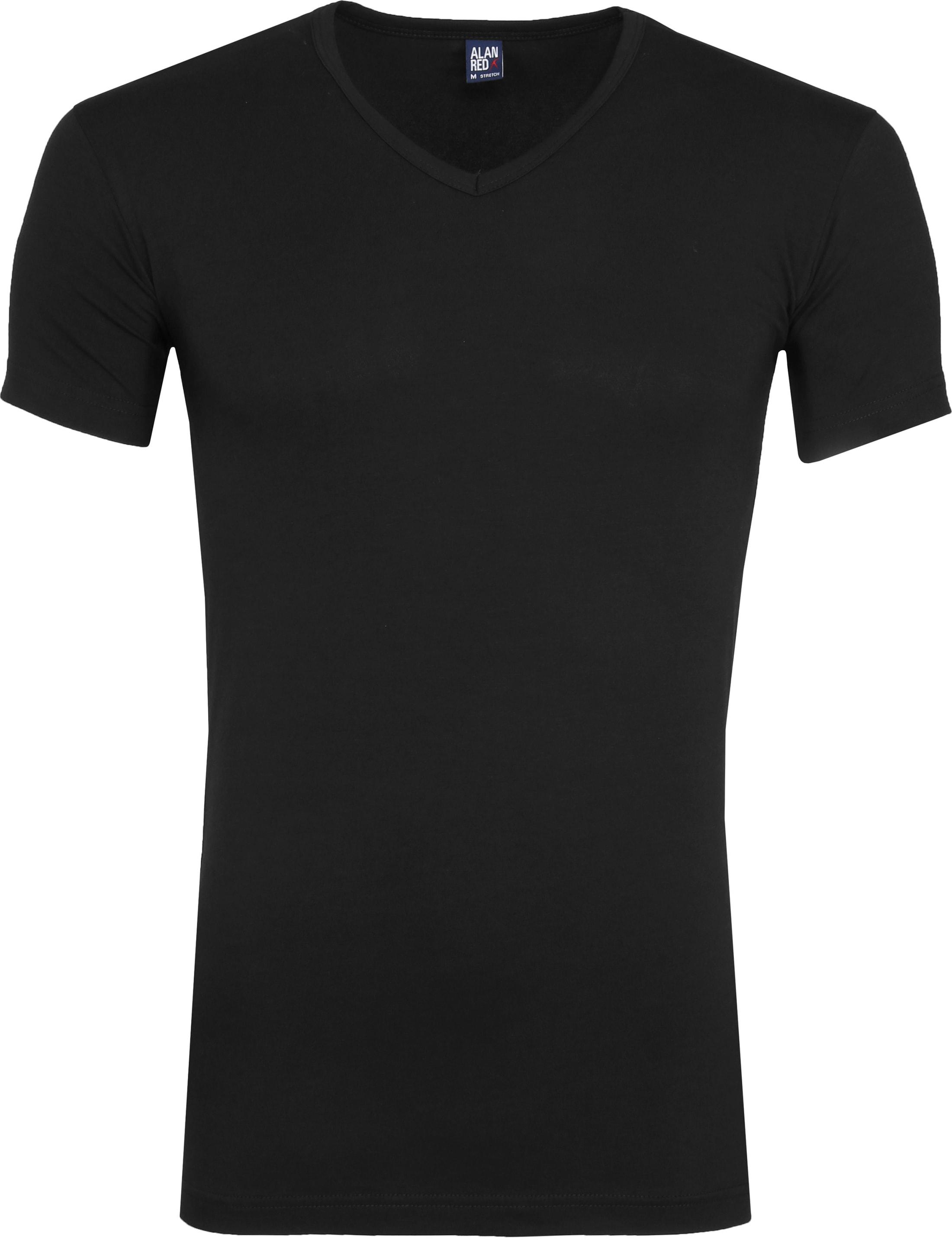 Alan Red Oklahoma T-Shirt Stretch Zwart (2-Pack) foto 1