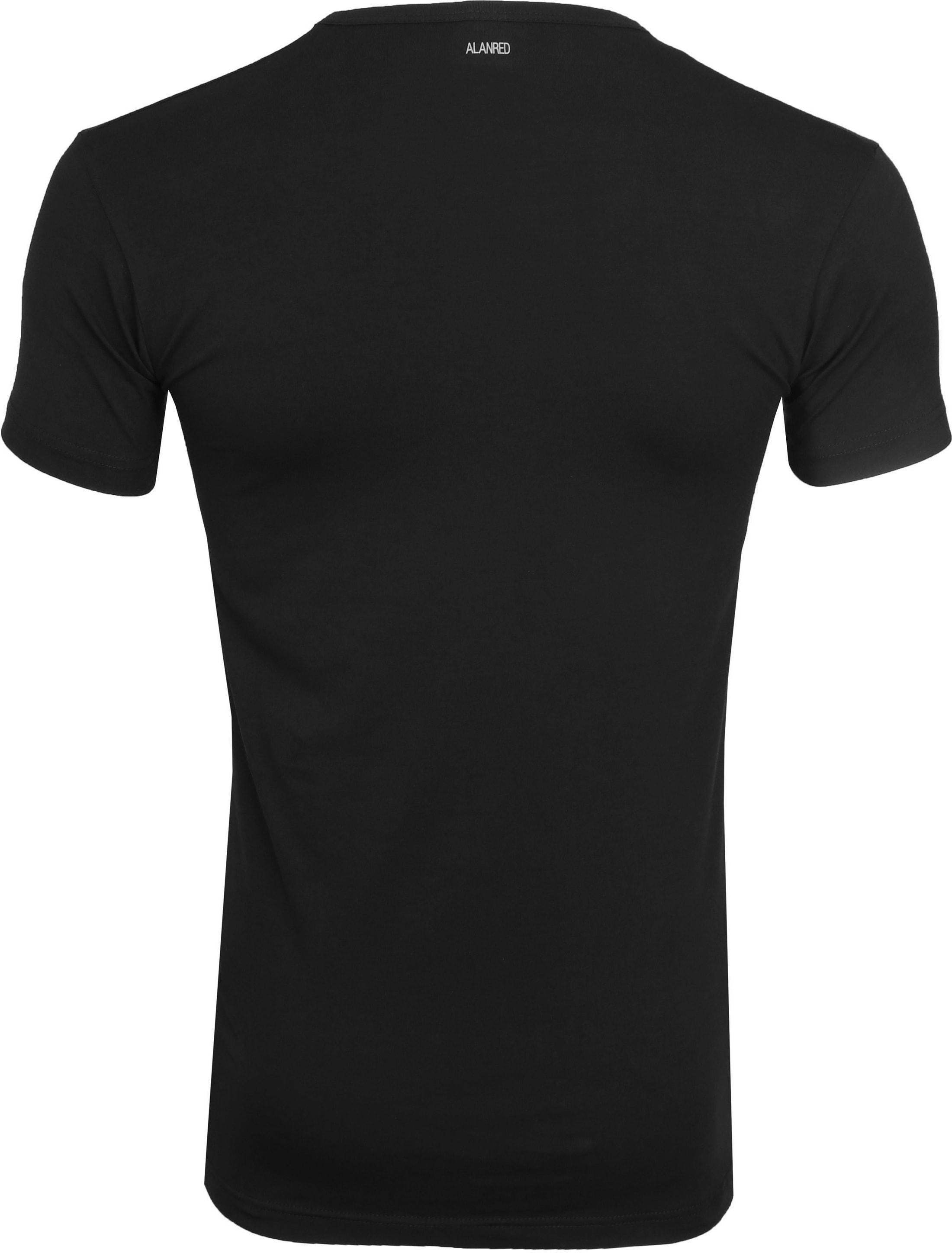 Alan Red Oklahoma T-Shirt Stretch Zwart (2-Pack) foto 4