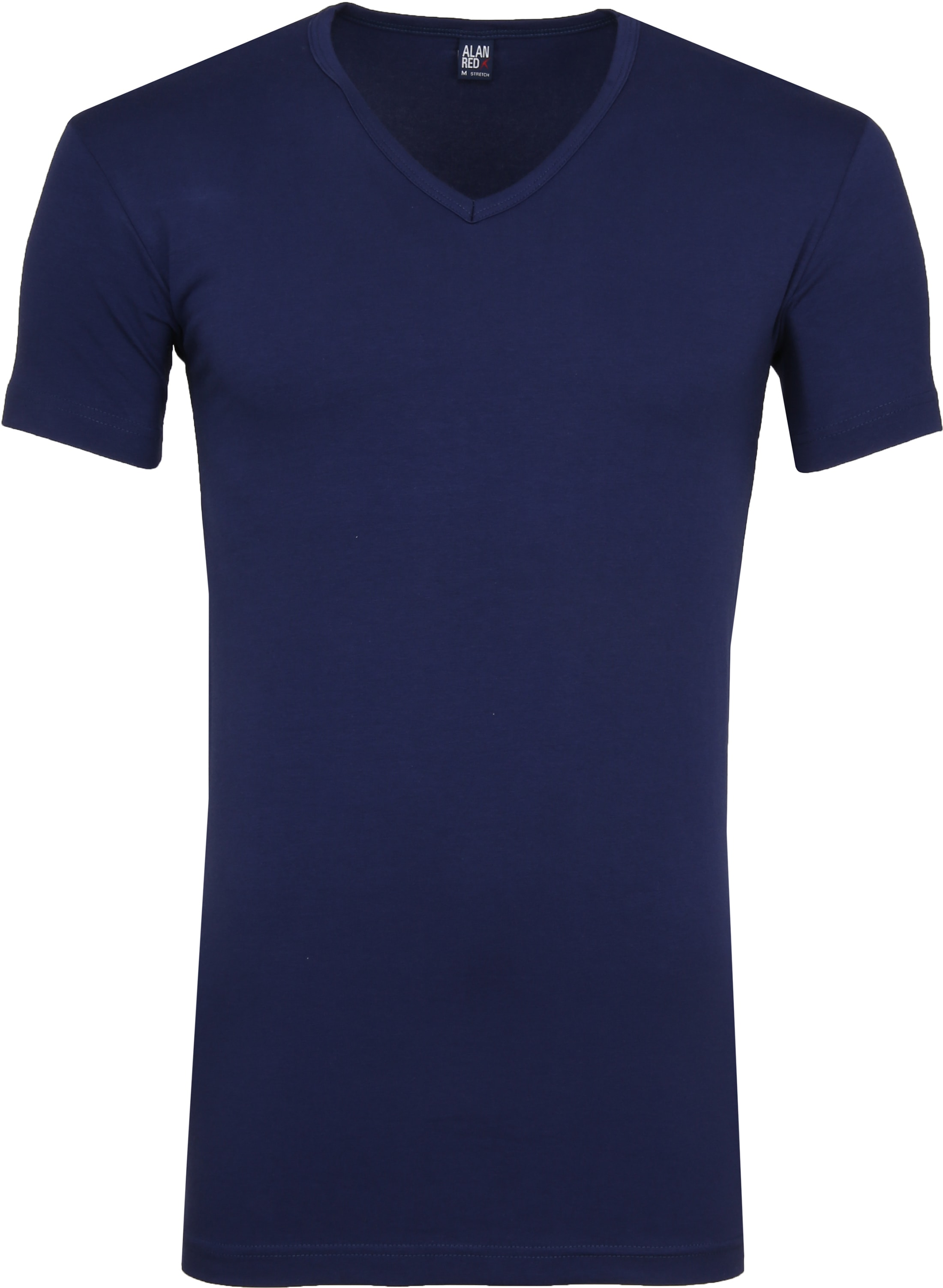 Alan Red Oklahoma V-Hals T-Shirt Blauw Stretch (2Pack) foto 1