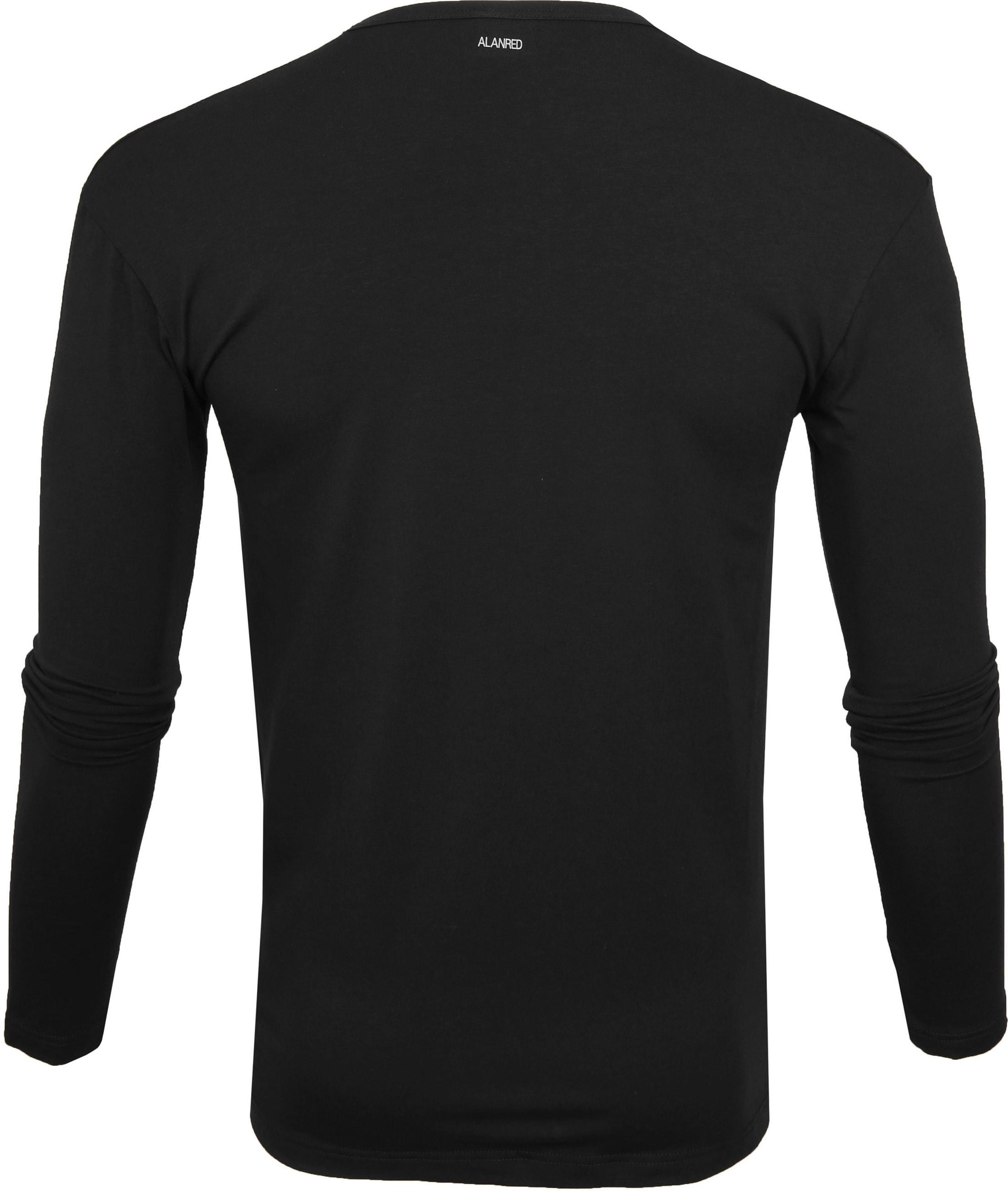 Alan Red Olbia Longsleeve T-shirt Black foto 2
