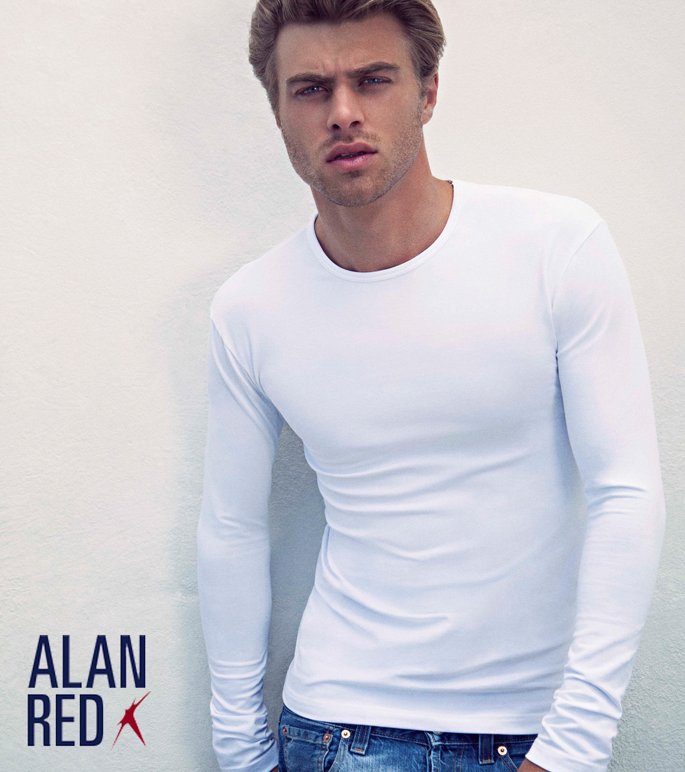 Alan Red Olbia Longsleeve White 1-Pack foto 3
