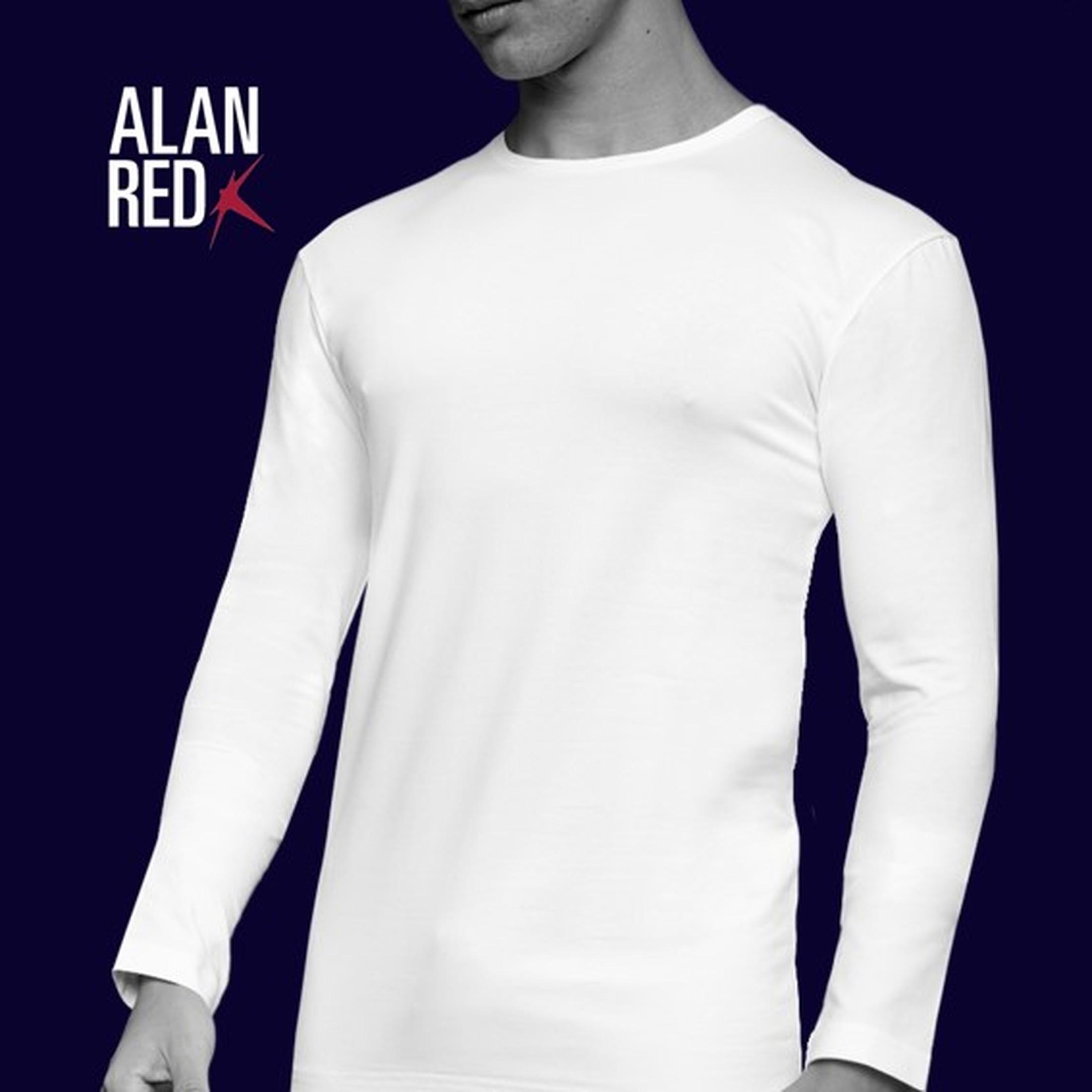 Alan Red Olbia Longsleeve White 1-Pack