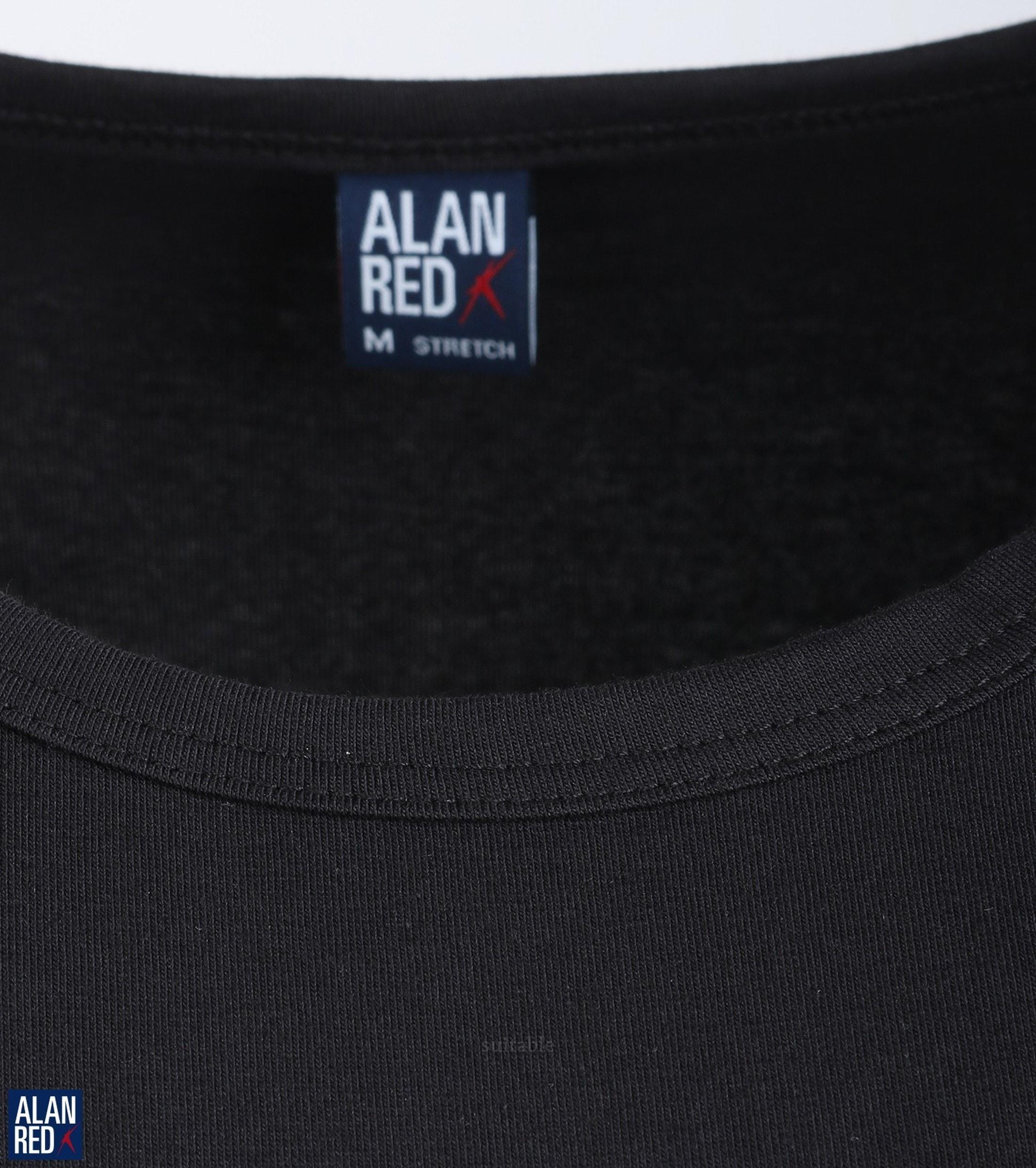 Alan Red Ottawa T-shirt Stretch Black 1-Pack foto 2