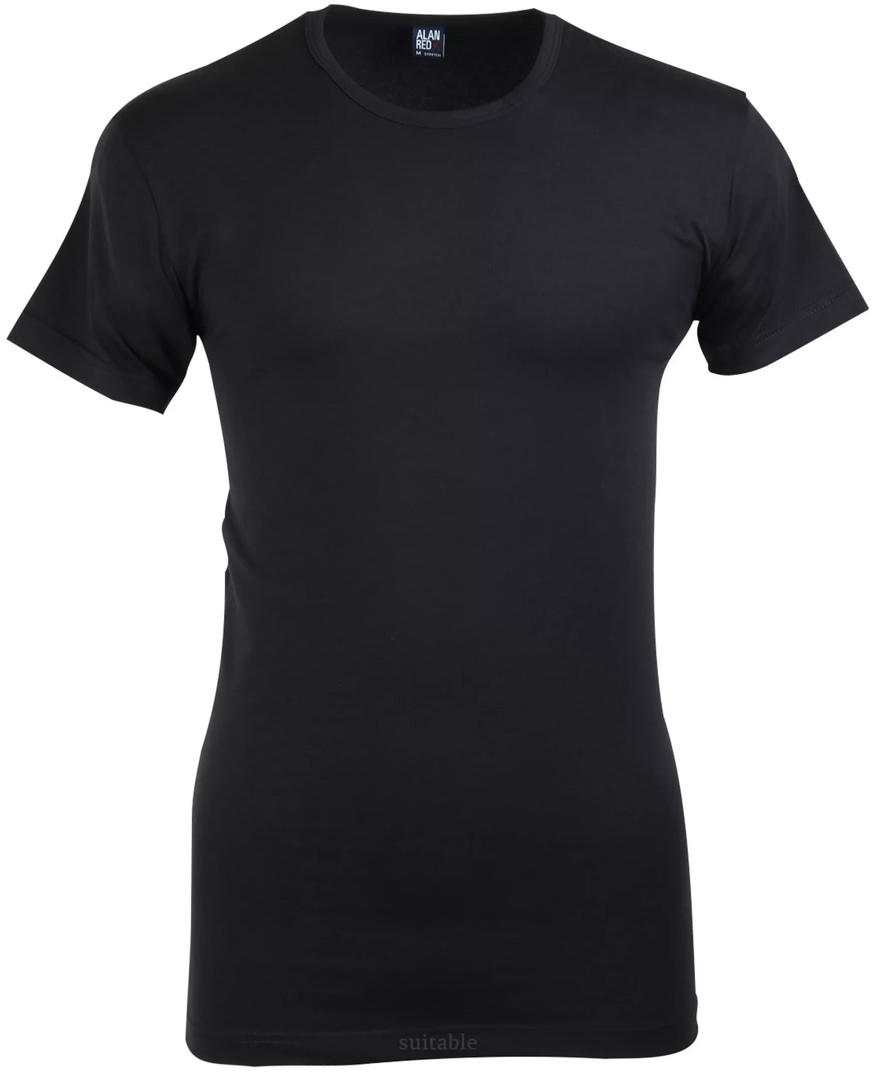 Alan Red Ottawa T-shirt Stretch Black 1-Pack foto 0
