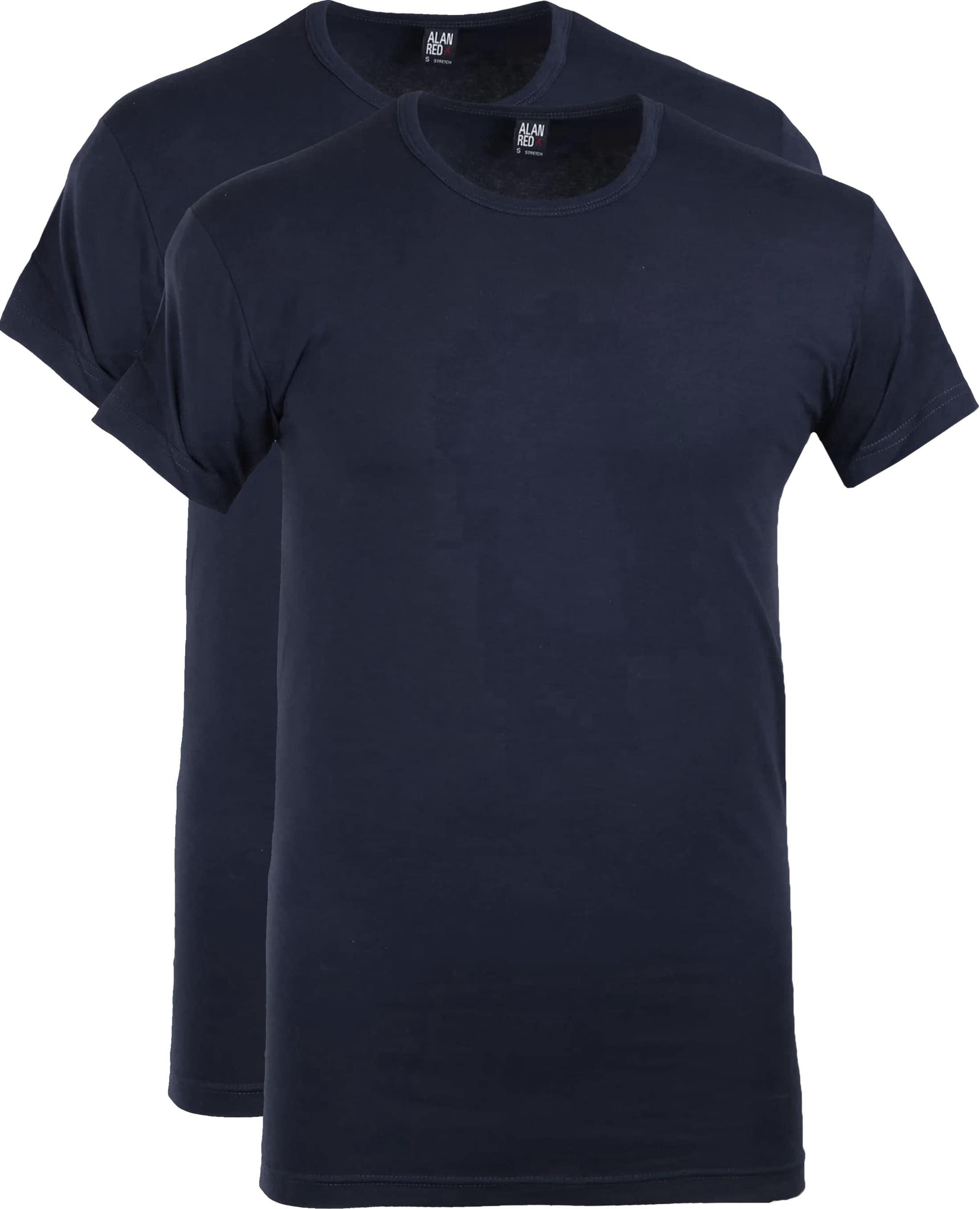 Alan Red Ottawa T-shirt Stretch Navy (2Pack)