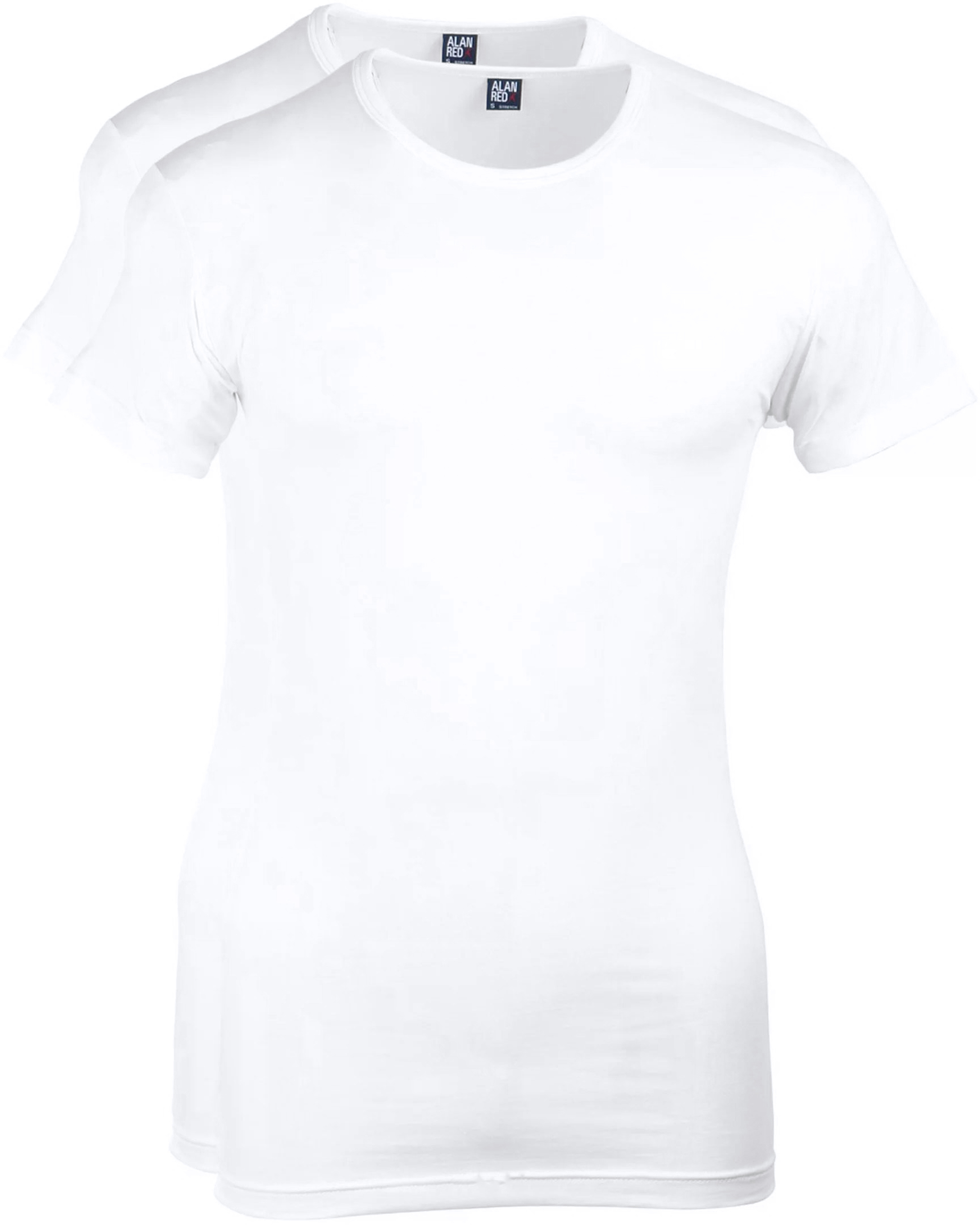 Alan Red Ottawa T-shirt Stretch White 2-Pack foto 0