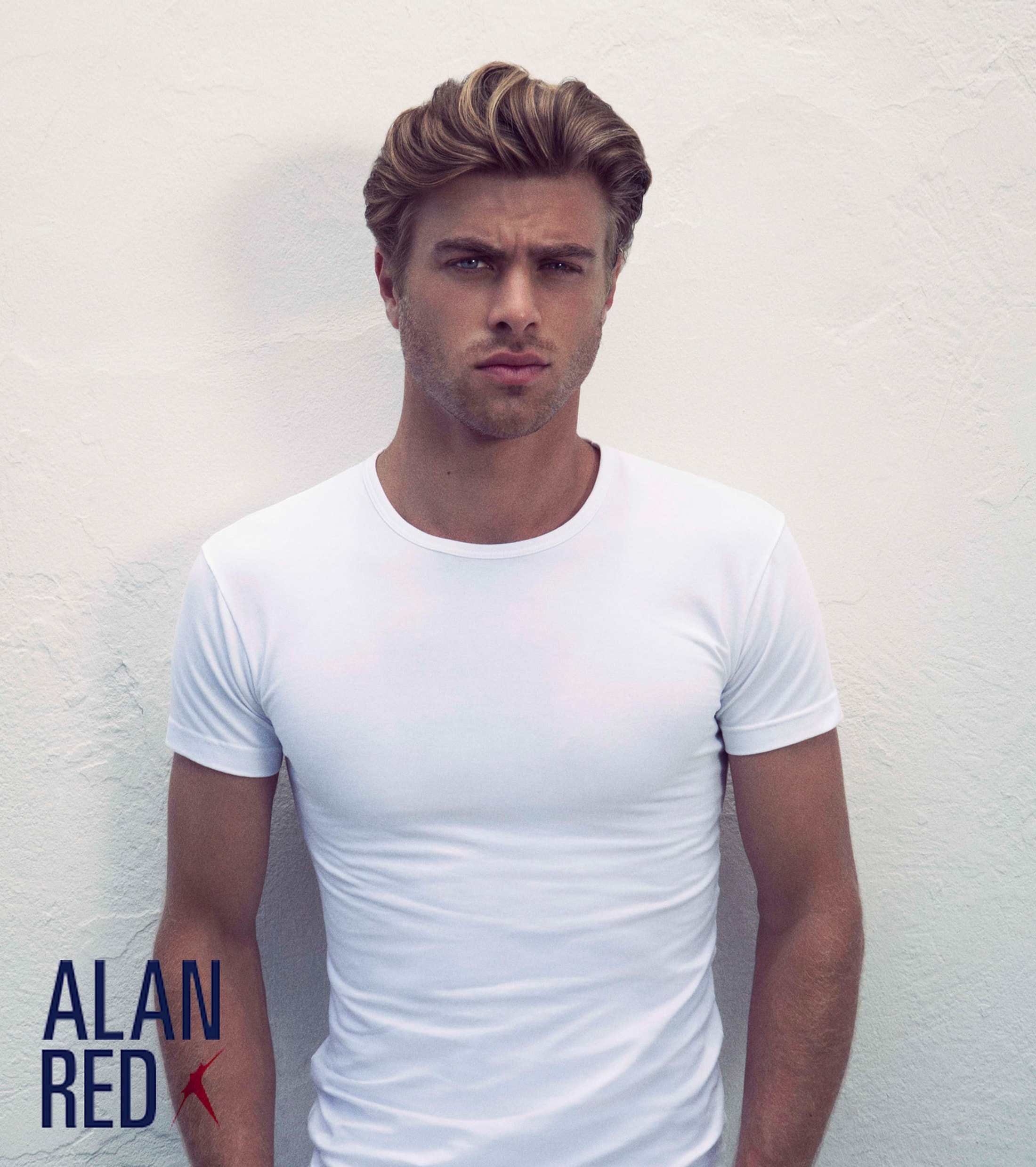 Alan Red Ottawa T-shirt Stretch White 2-Pack foto 3