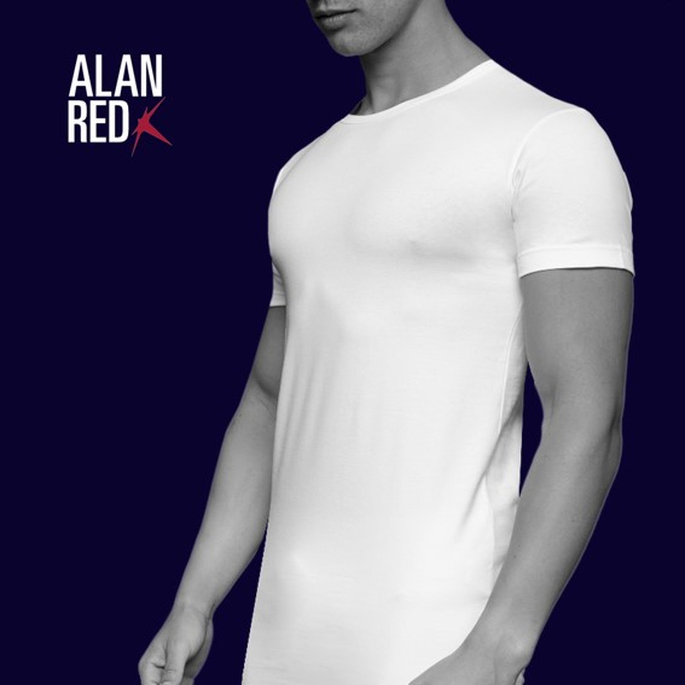 Alan Red Ottawa T-shirt Stretch Wit (2Pack)