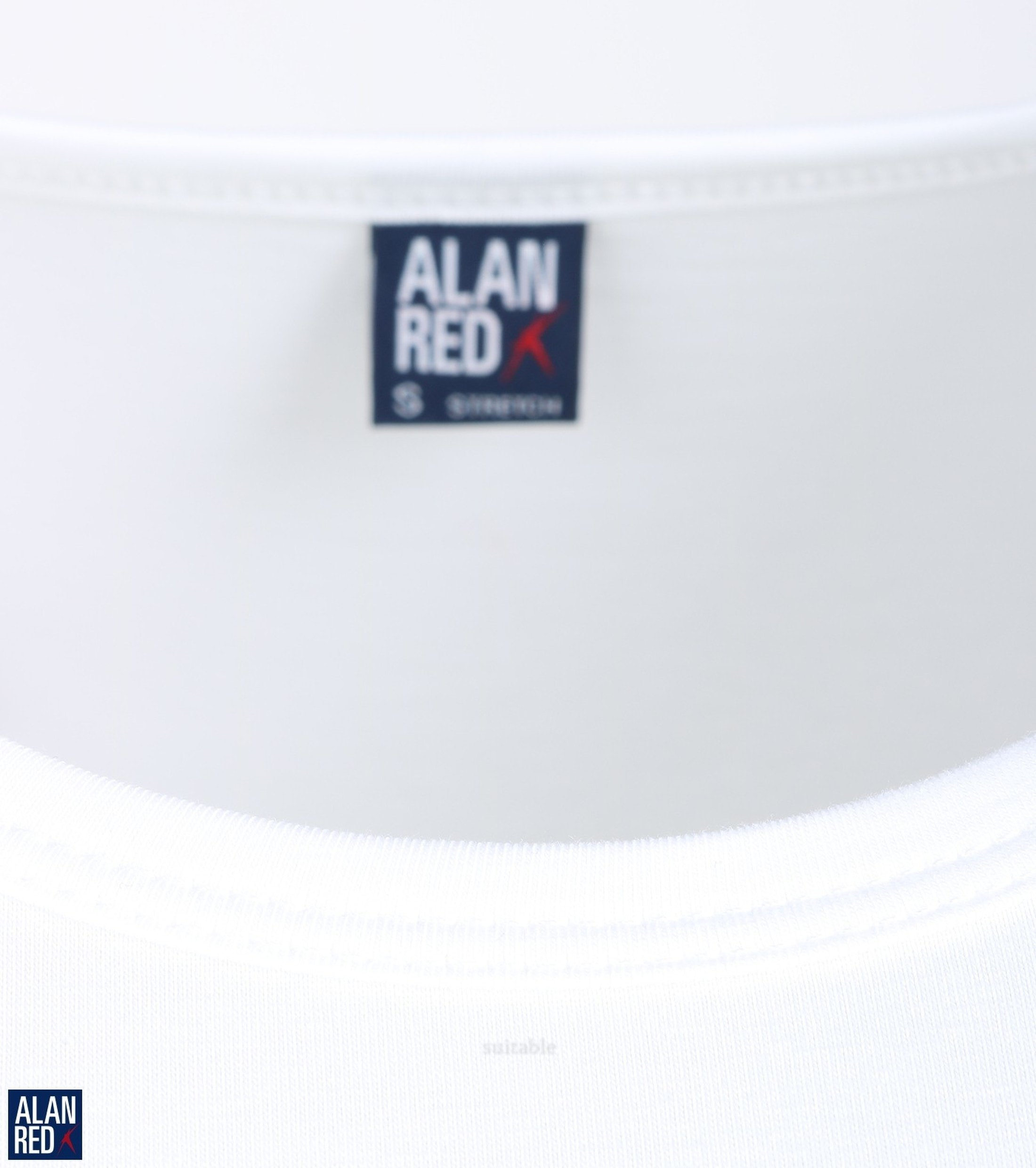 Alan Red Ottawa T-shirt Stretch Wit (2Pack) foto 2