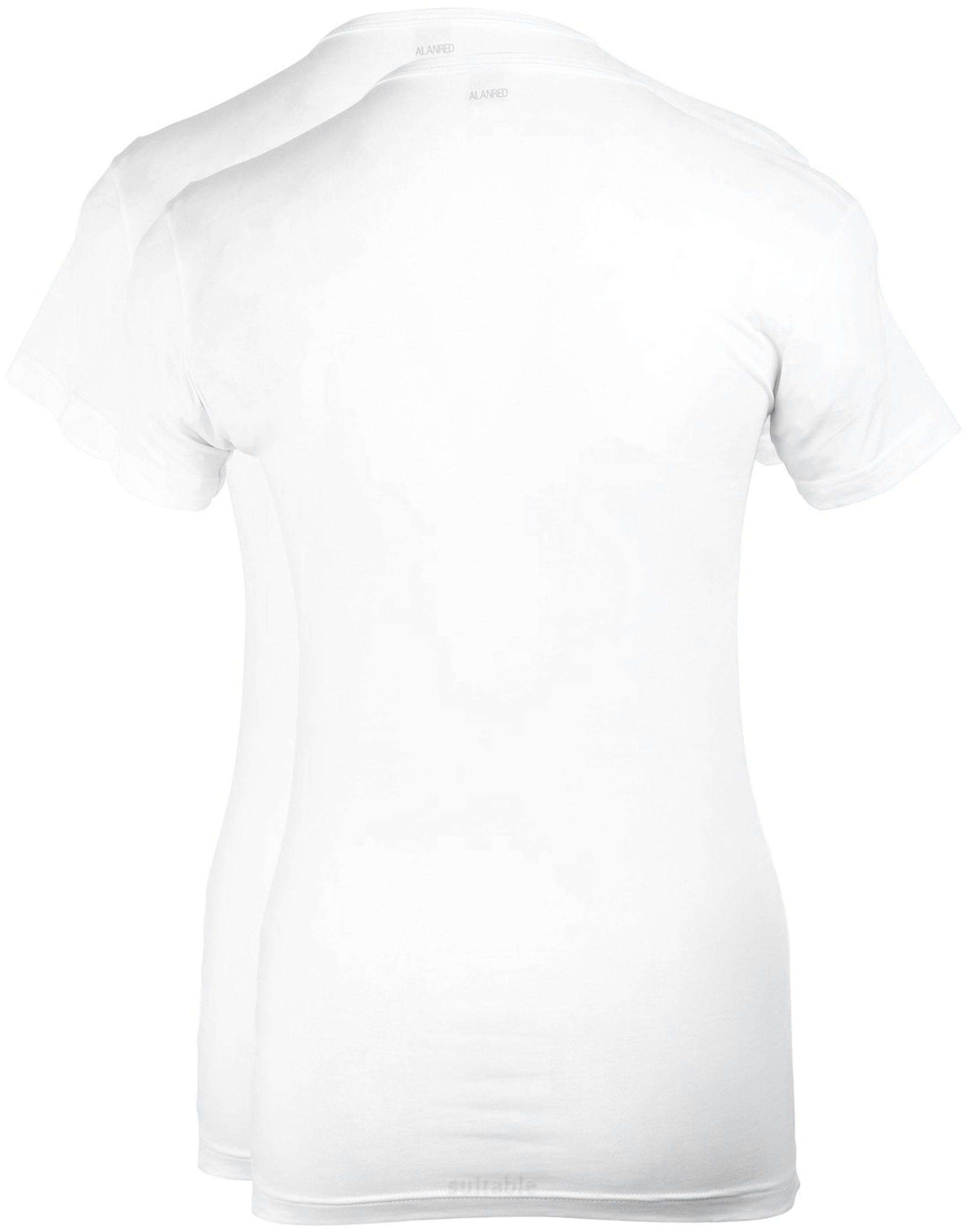 Alan Red Ottawa T-shirt Stretch Wit (2Pack) foto 2